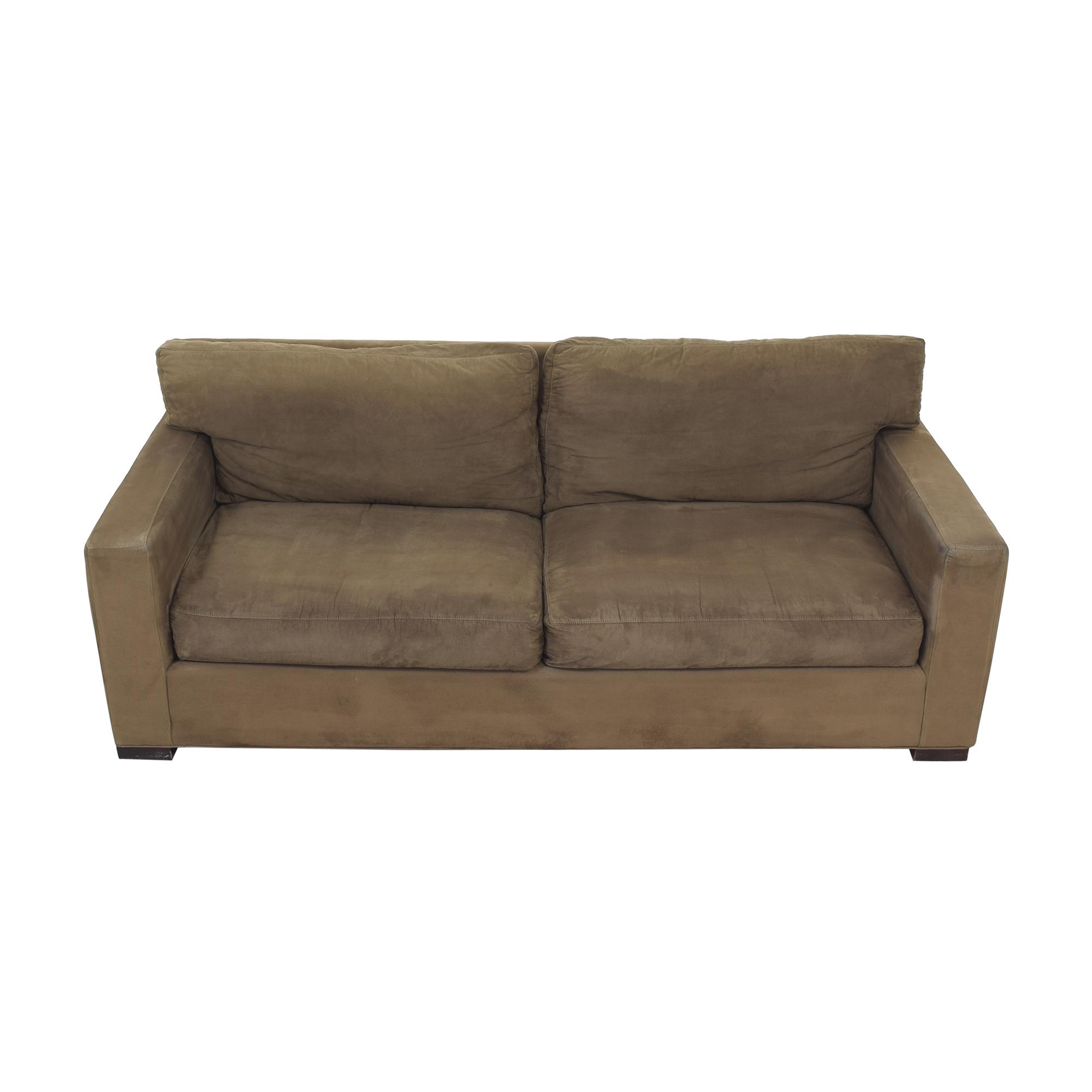 Crate & Barrel Crate & Barrel Axis II Two Cushion Sofa brown