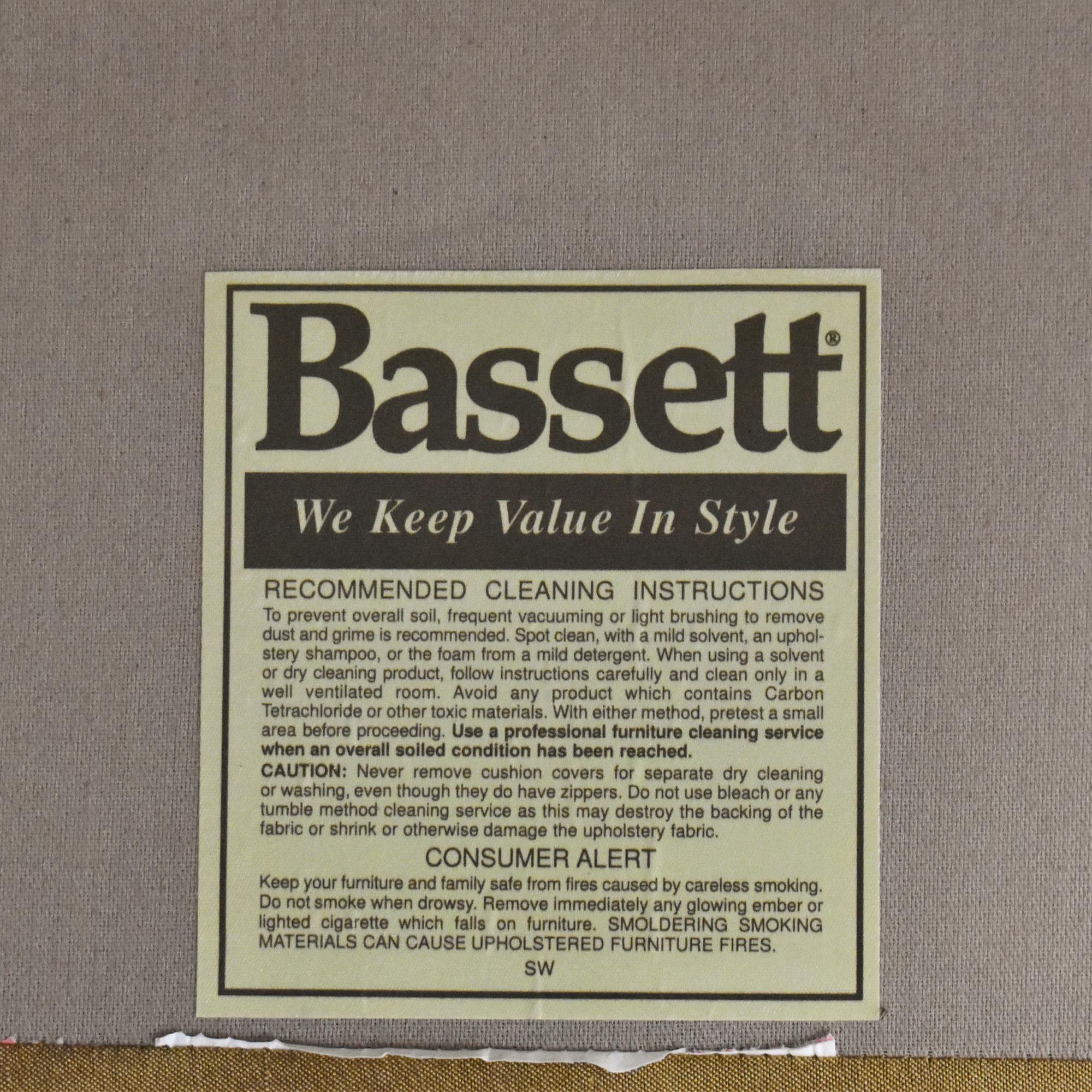Bassett Furniture Bassett Upholstered Chaise Lounge Chaises