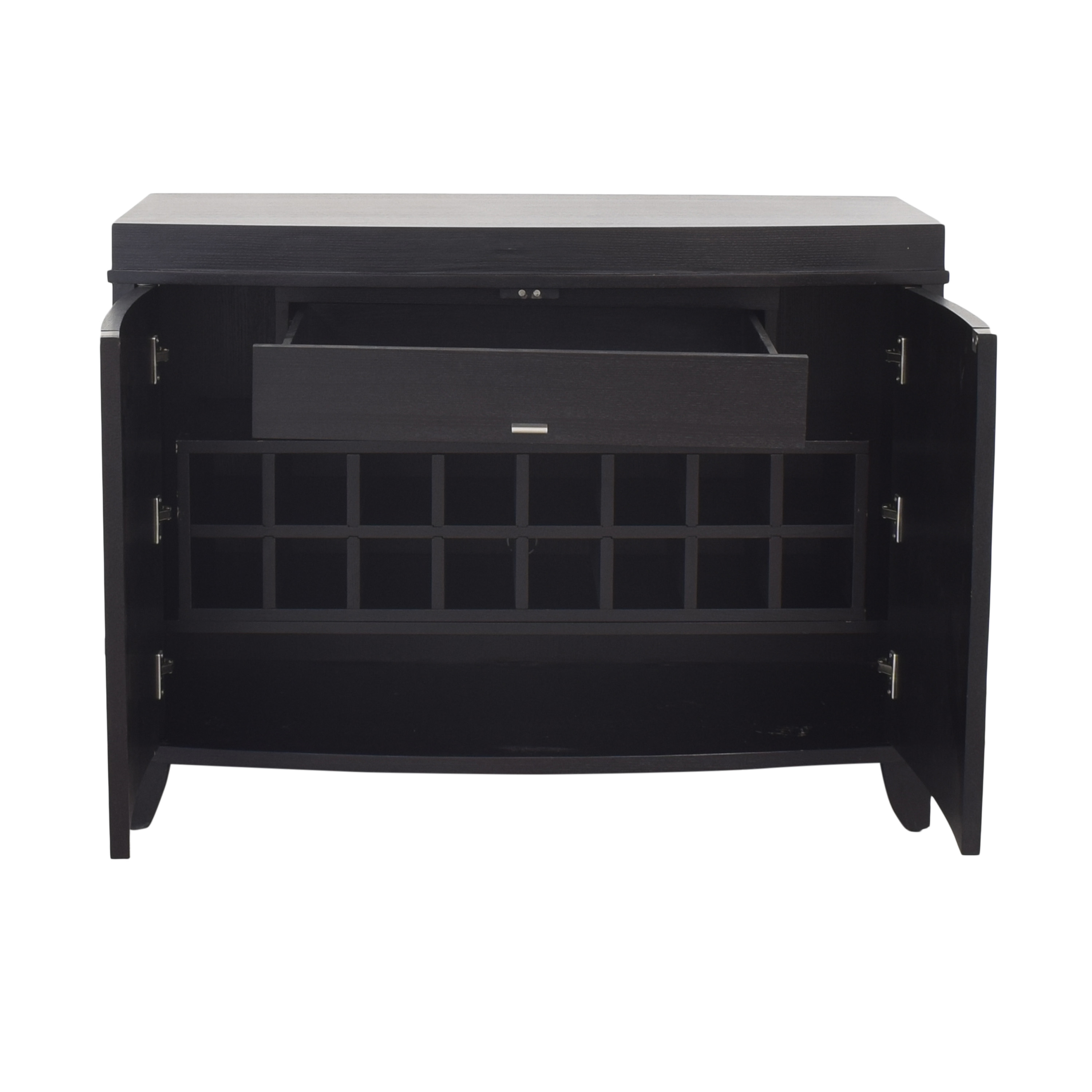 shop Crate & Barrel Bar Cabinet with Wine and Glass Storage Crate & Barrel Cabinets & Sideboards