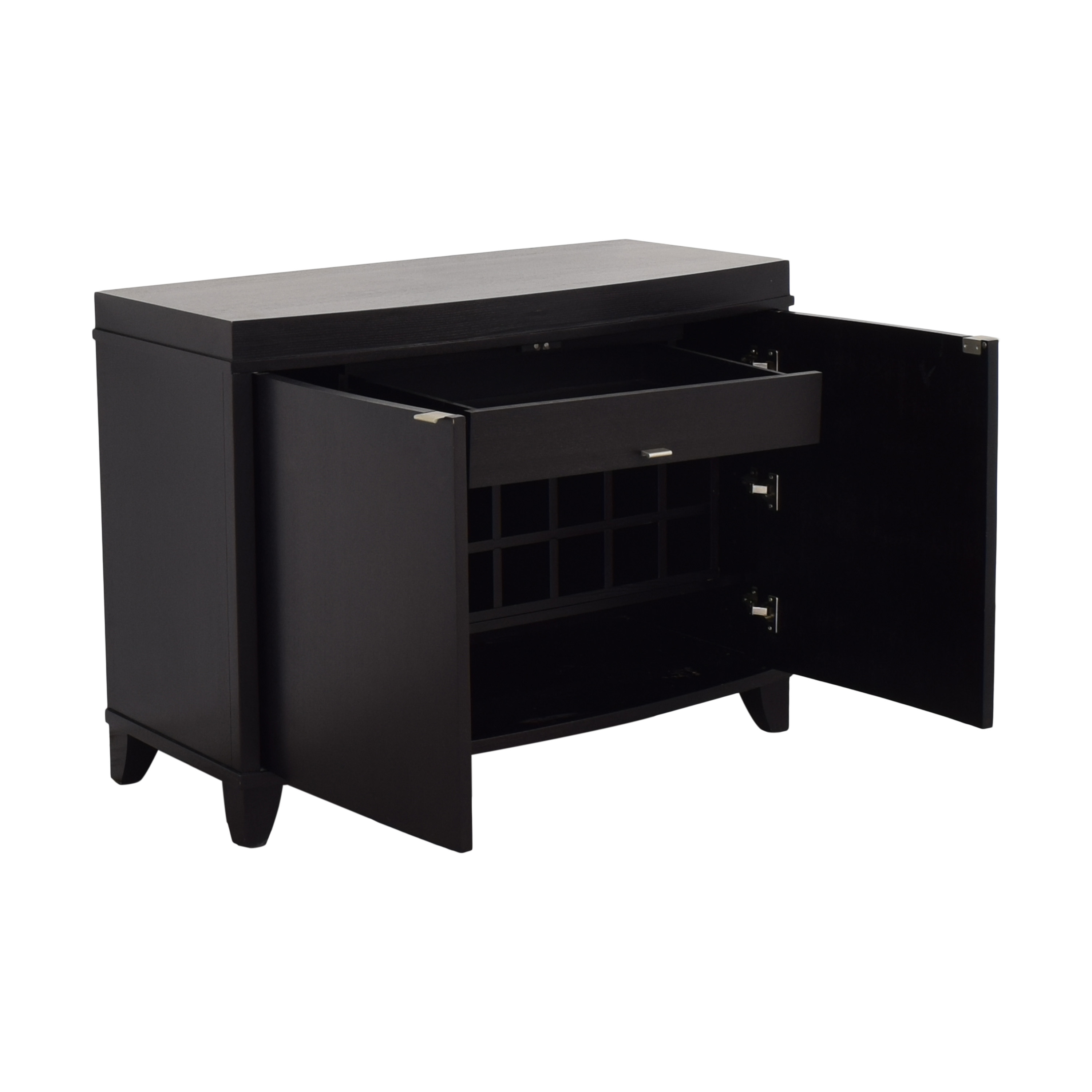 Crate & Barrel Crate & Barrel Bar Cabinet with Wine and Glass Storage Cabinets & Sideboards