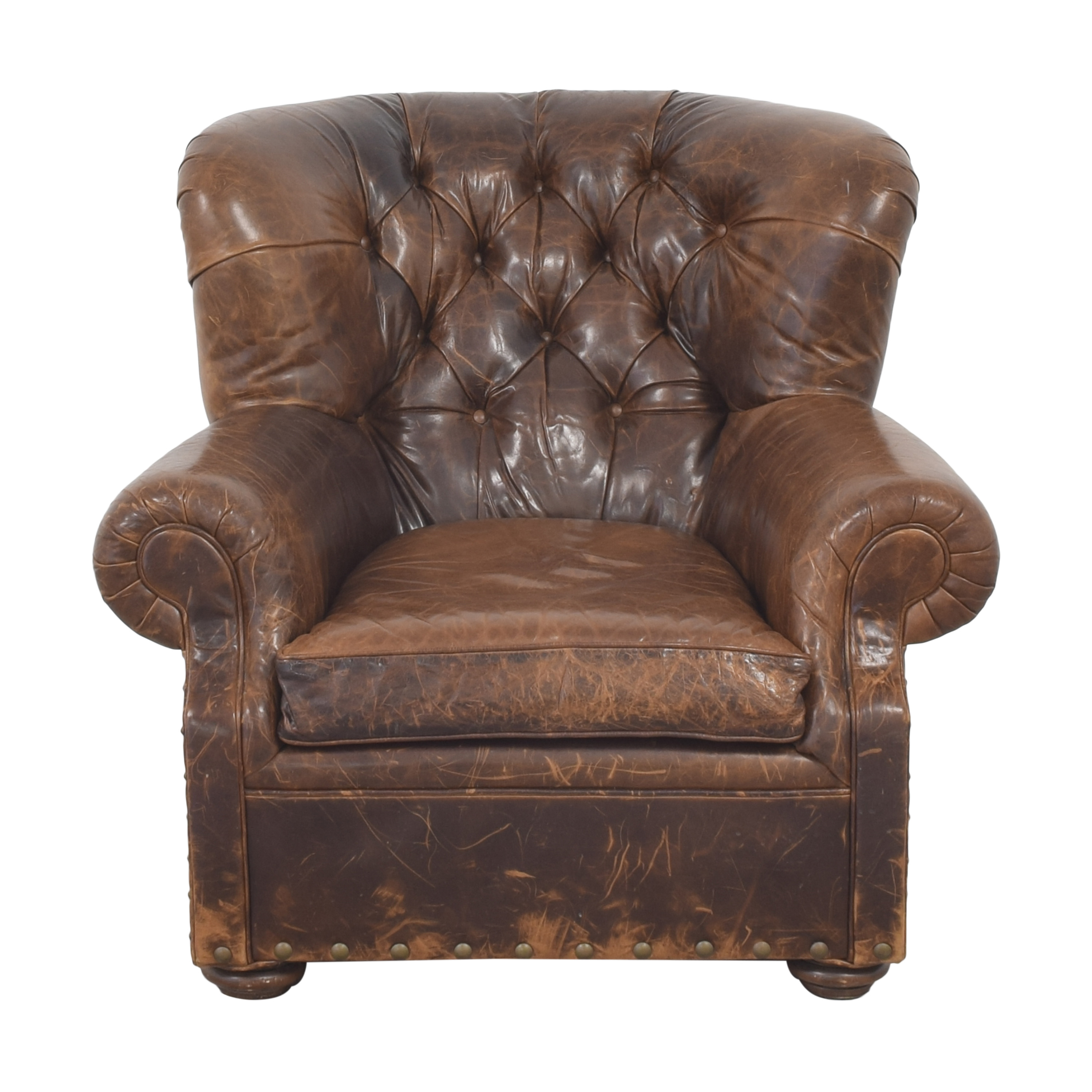 Restoration Hardware Restoration Hardware Tufted Club Chair nj