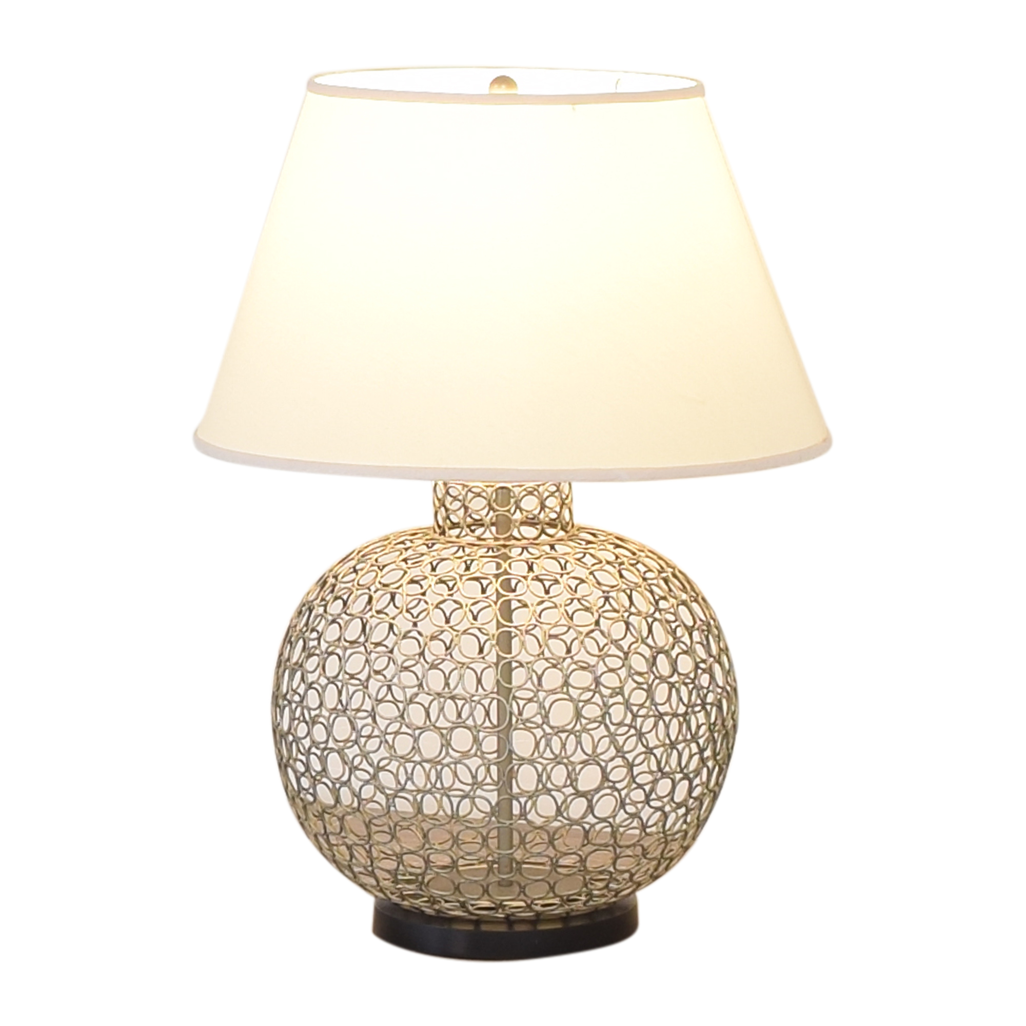 shop Ethan Allen Openweave Nickel Table Lamp Ethan Allen Lamps