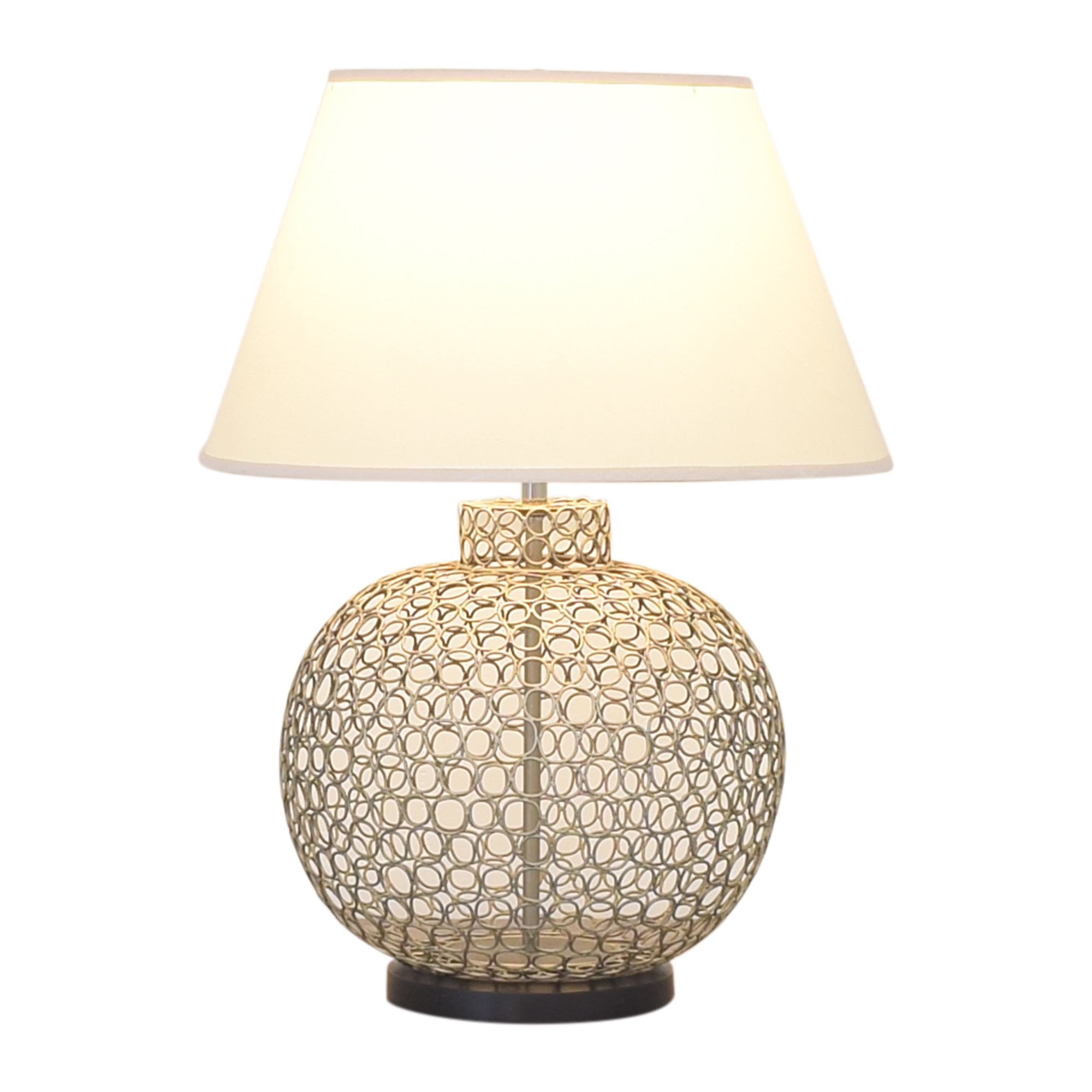 buy Ethan Allen Openweave Nickel Table Lamp Ethan Allen Lamps
