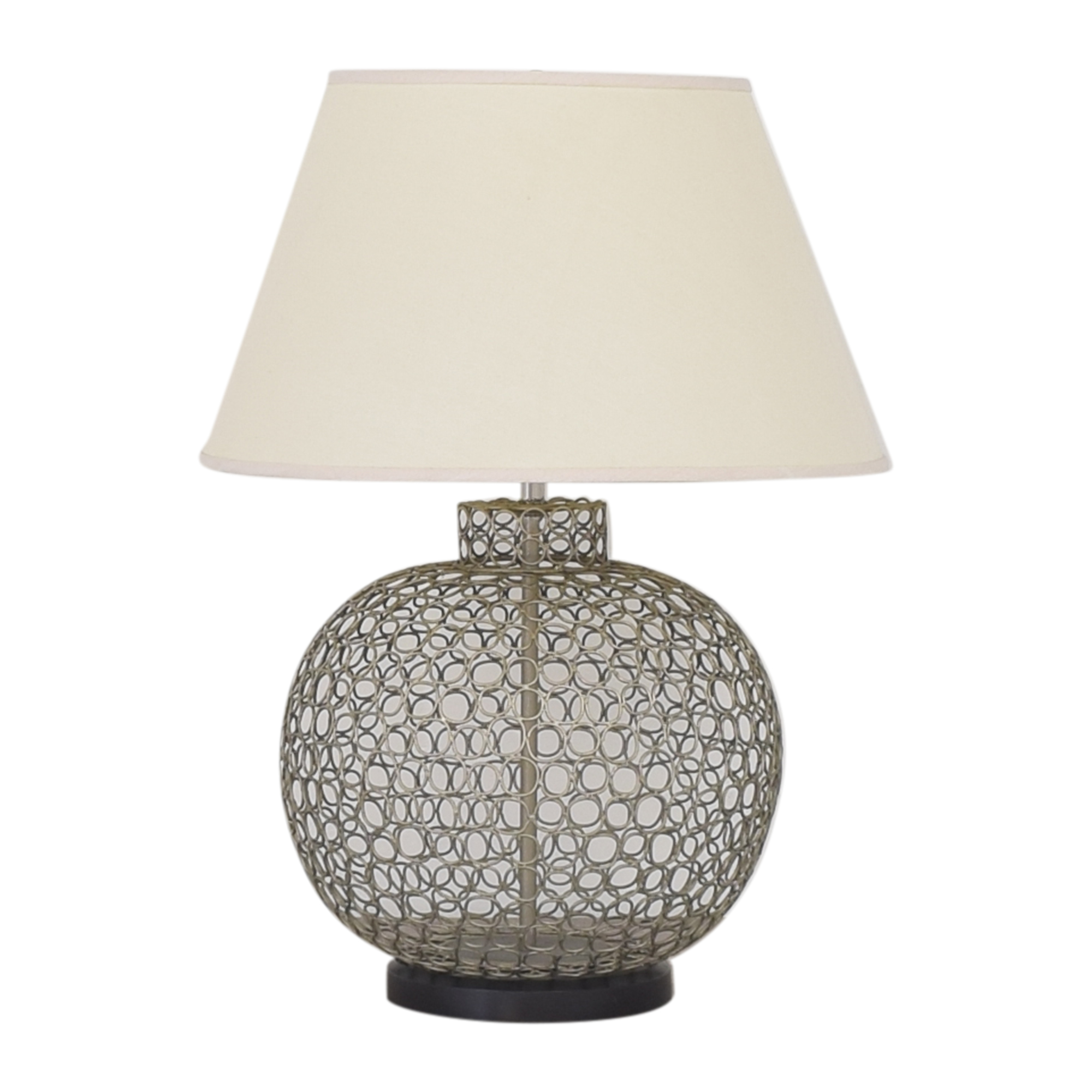 Ethan Allen Ethan Allen Openweave Nickel Table Lamp dimensions