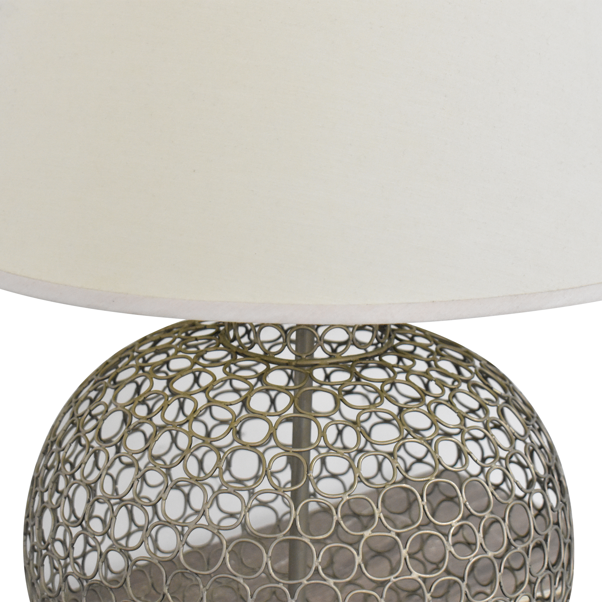 buy Ethan Allen Openweave Nickel Table Lamp Ethan Allen Decor