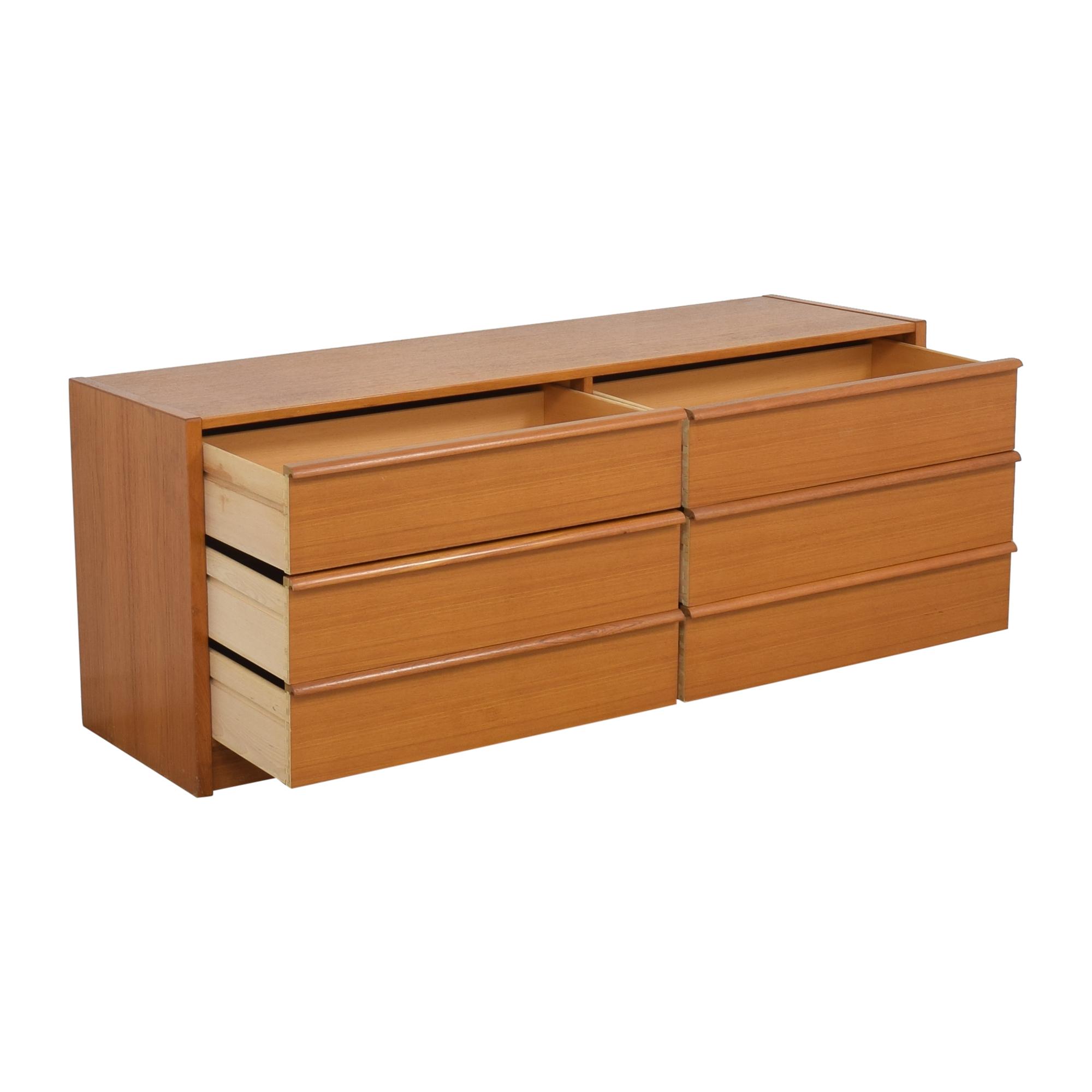 buy Jesper International Mid Century Modern Double Dresser Jesper International Dressers