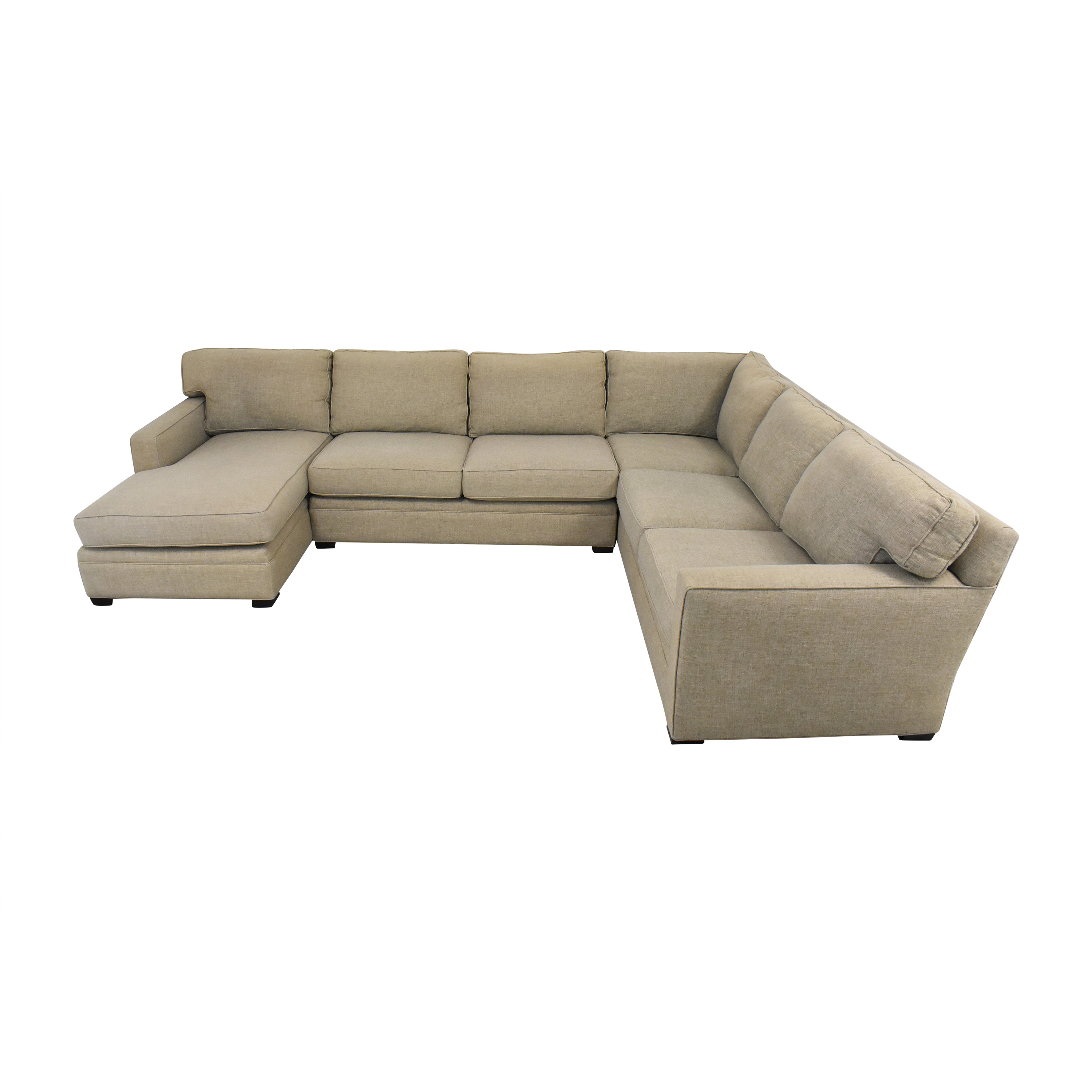 Lillian August Lillian August L Shaped Sectional Sofa with Chaise second hand