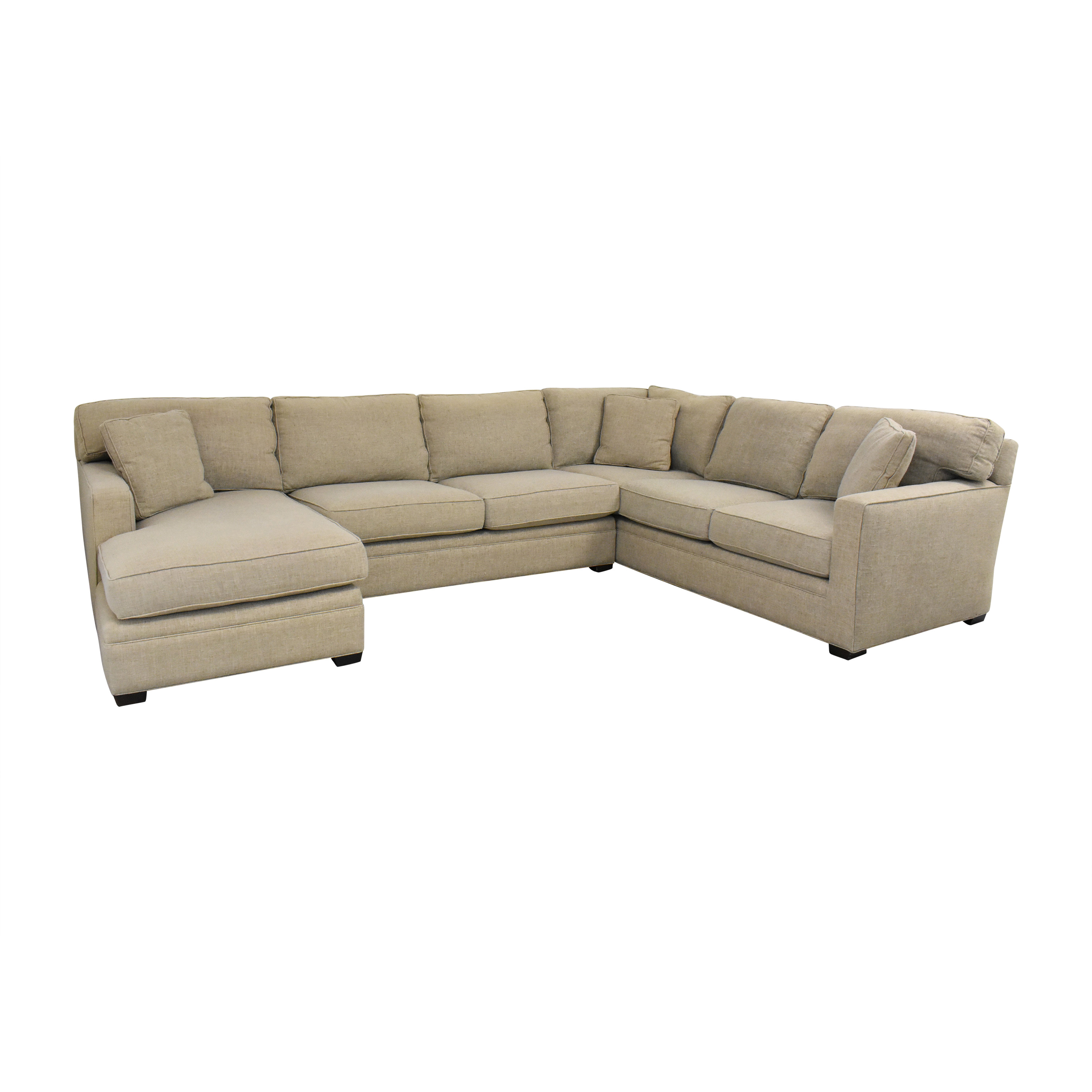 Lillian August Lillian August L Shaped Sectional Sofa with Chaise used