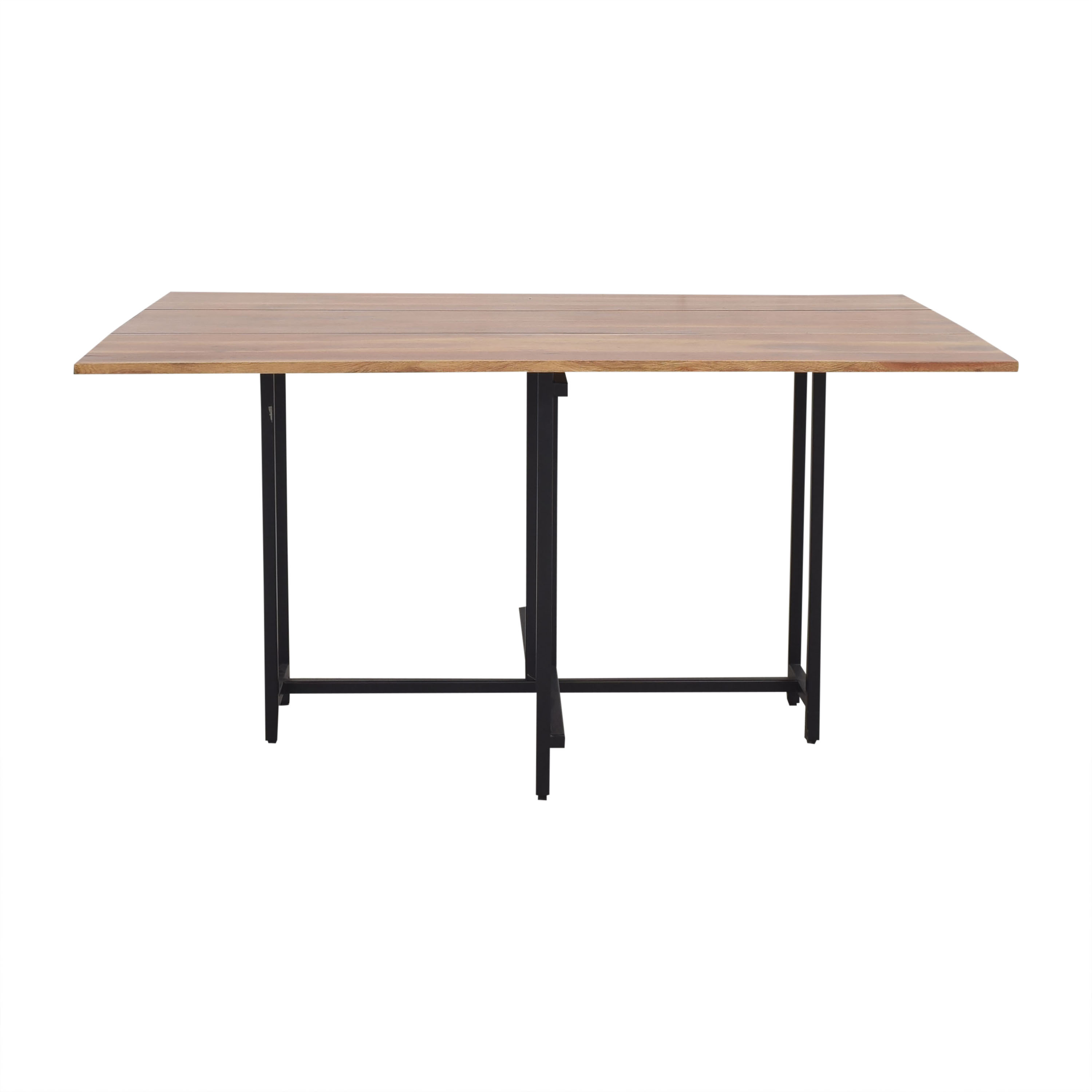 Crate & Barrel Origami Drop Leaf Rectangular Dining Table / Dinner Tables