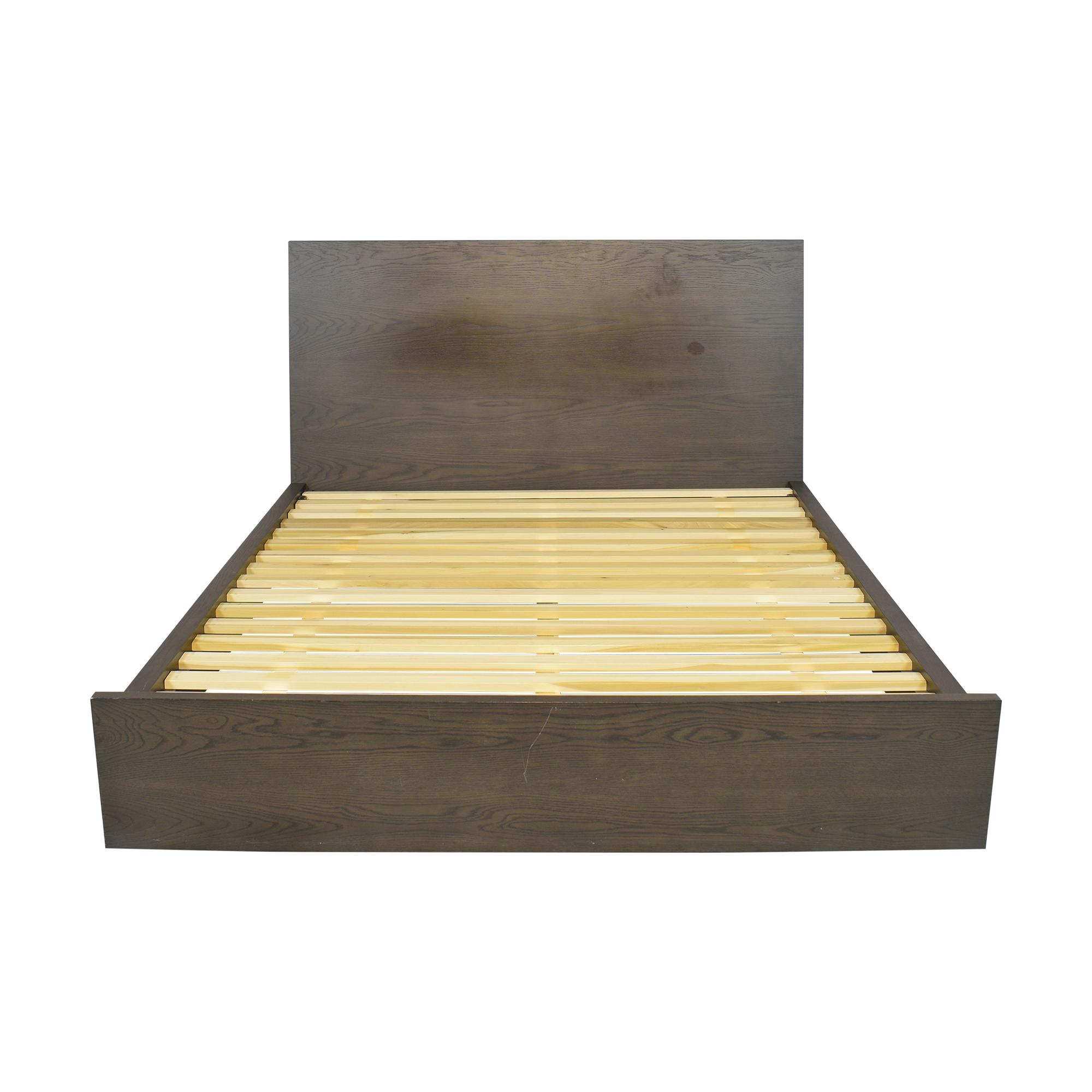 Crate & Barrel Crate & Barrel Reed Queen Bed dark brown