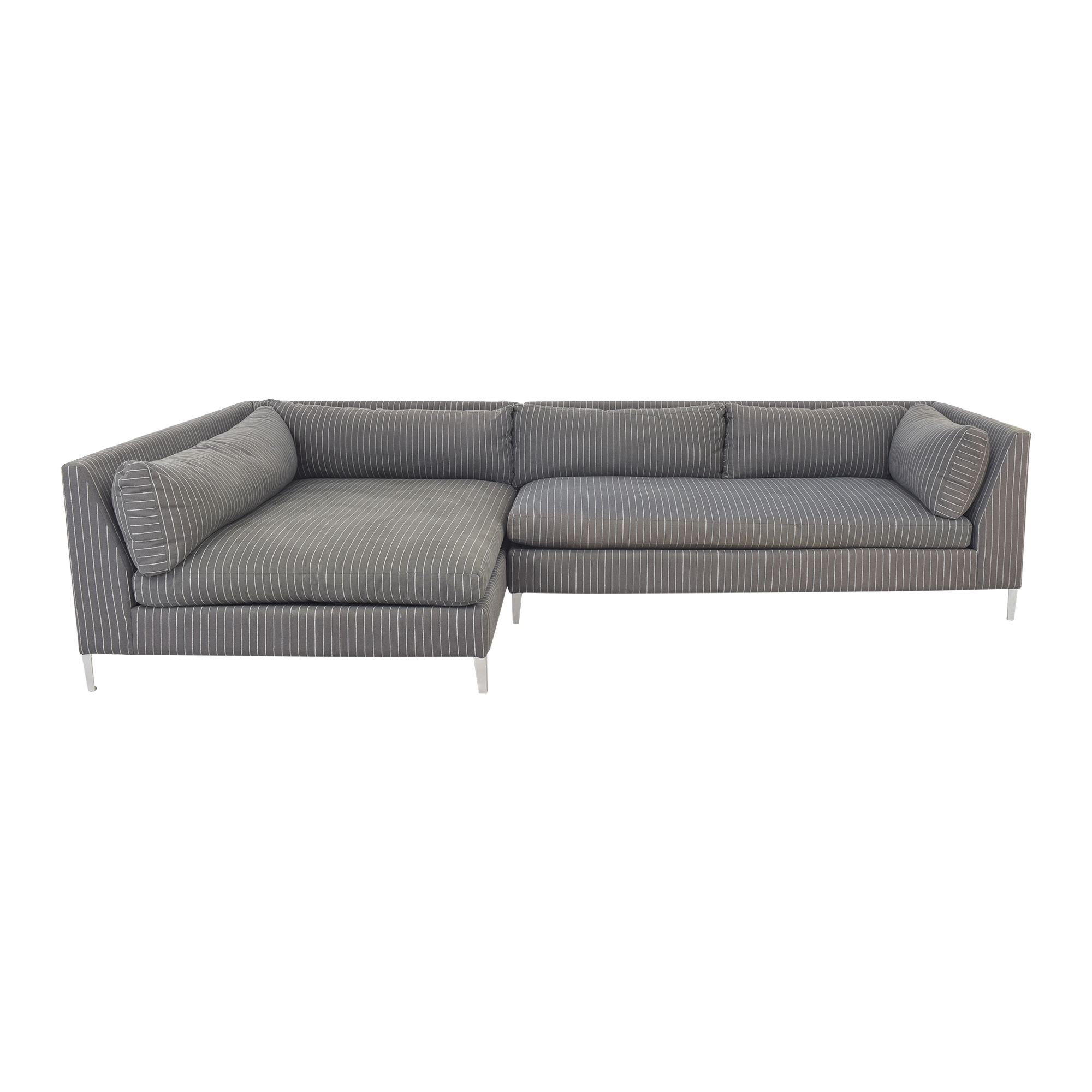 CB2 CB2 Decker Two Piece Sectional Sofa for sale