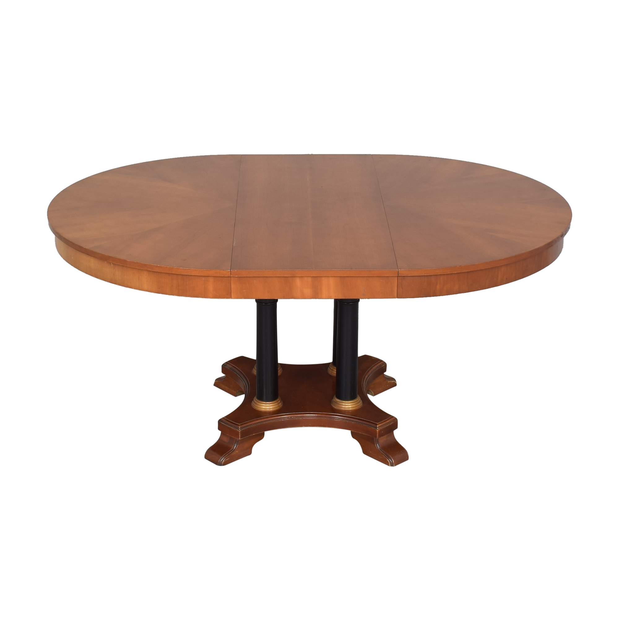 Ethan Allen Medallion Collection Round Extendable Dining Table sale
