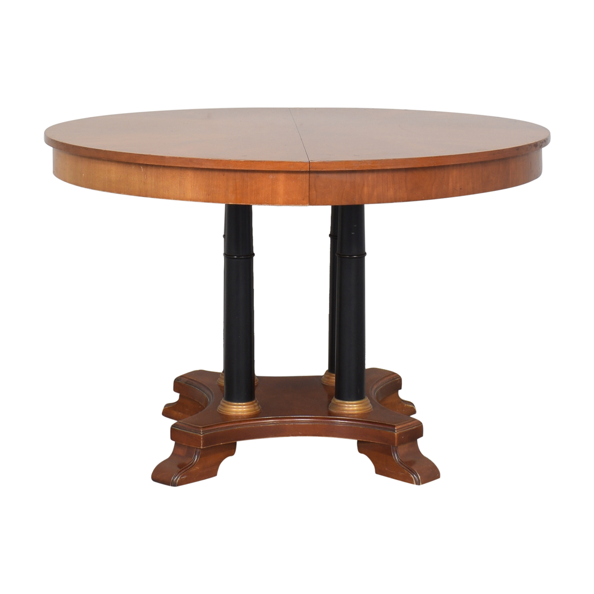 Ethan Allen Ethan Allen Medallion Collection Round Extendable Dining Table Tables
