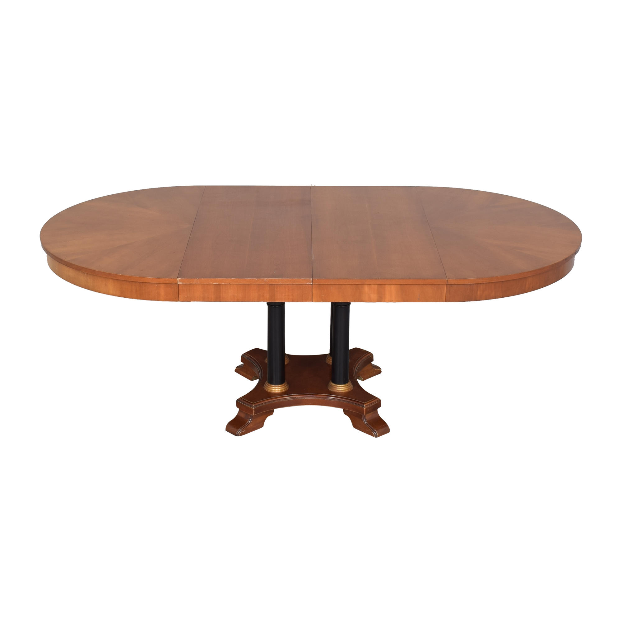 Ethan Allen Ethan Allen Medallion Collection Round Extendable Dining Table dimensions