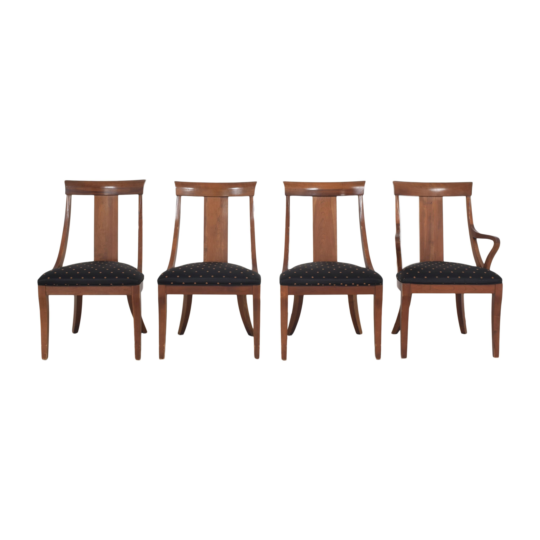 Ethan Allen Ethan Allen Medallion Dining Chairs second hand