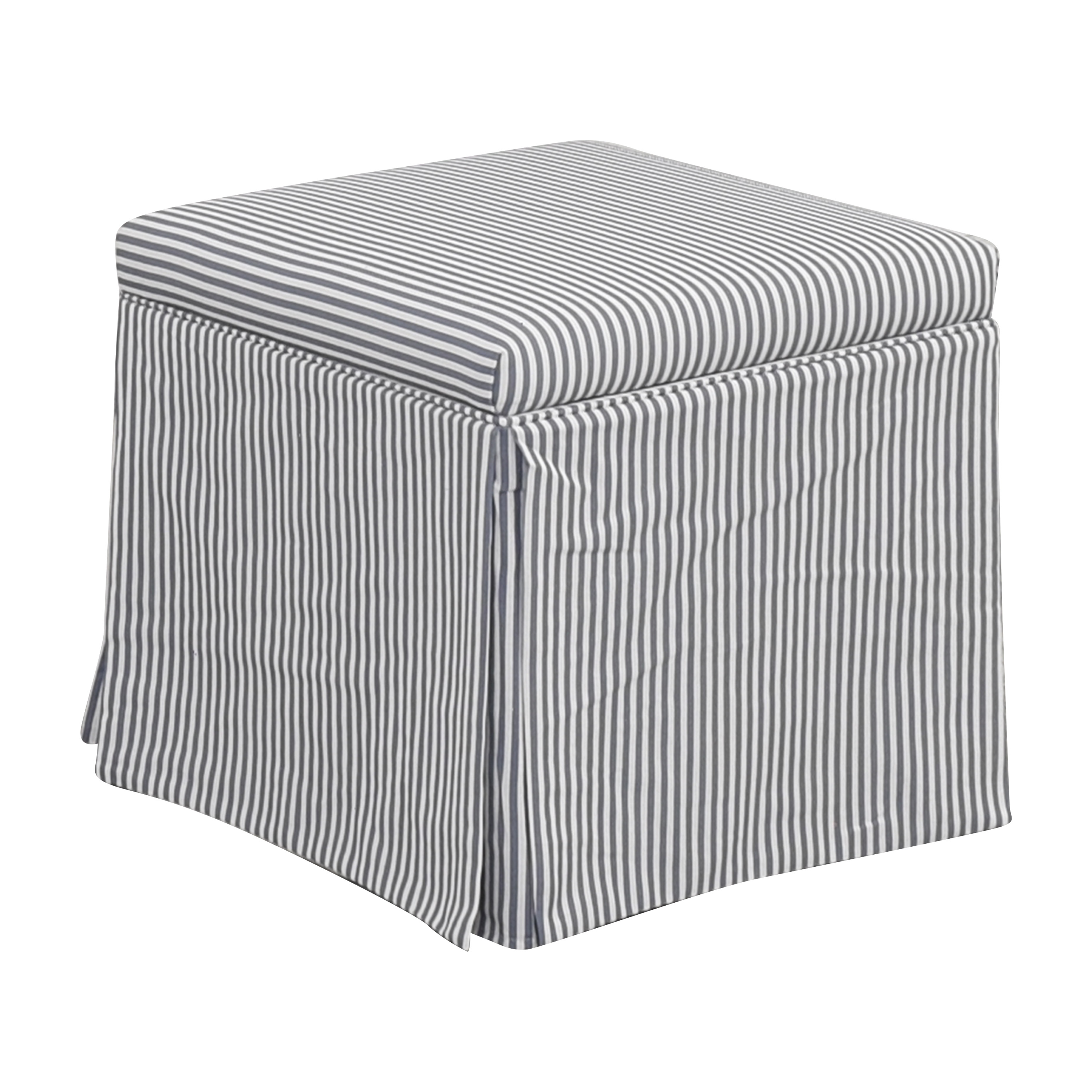 buy The Inside Skirted Storage Ottoman The Inside Ottomans
