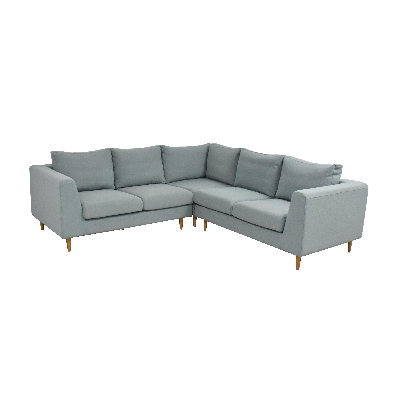 Interior Define Interior Define Asher Corner Sectional Sofa dimensions