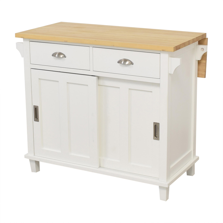 Crate & Barrel Crate & Barrel Belmont Kitchen Island light brown & white