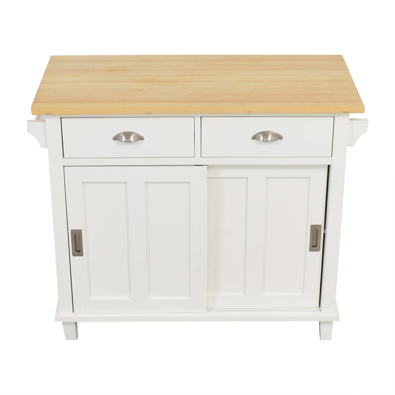 shop Crate & Barrel Belmont Kitchen Island Crate & Barrel Tables