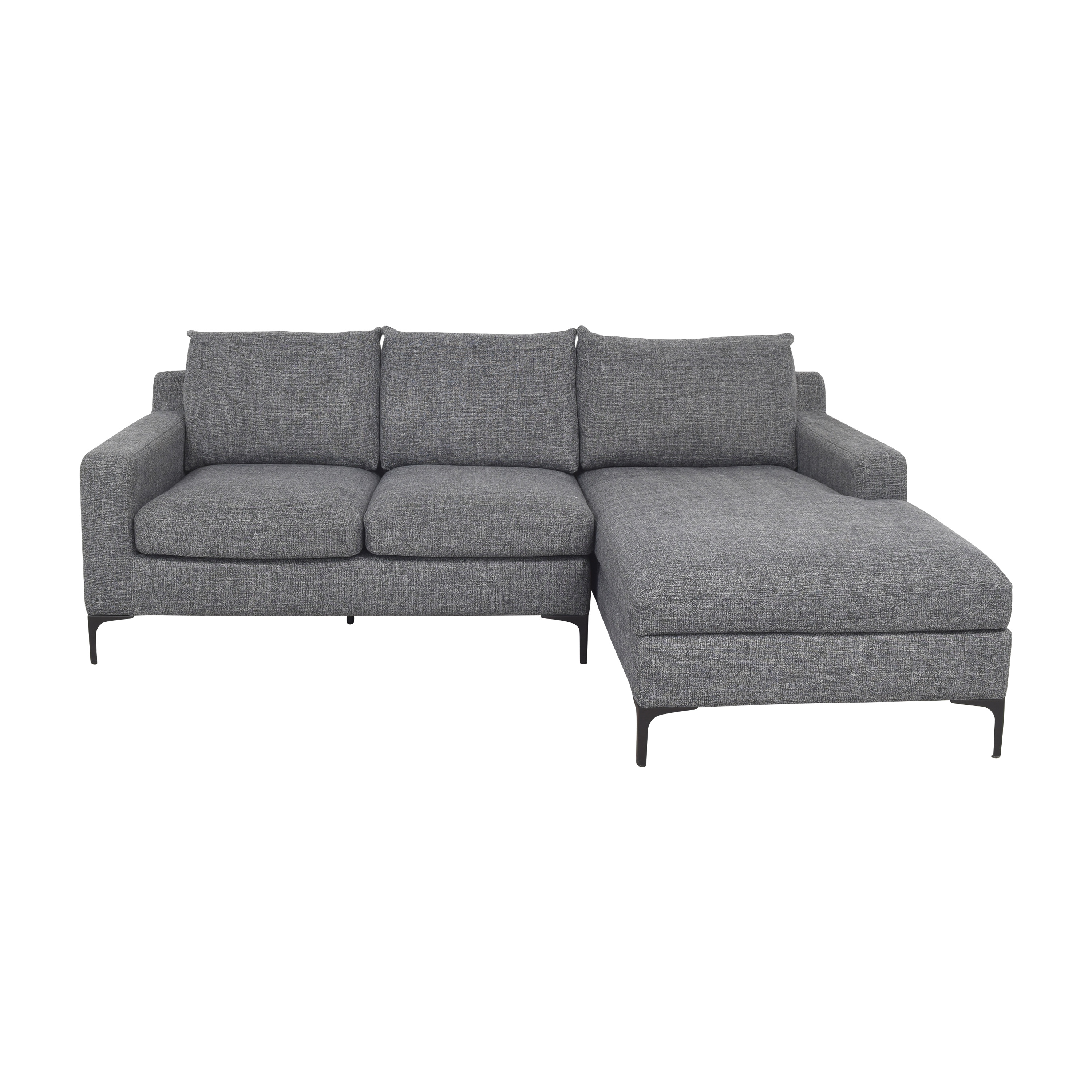 Interior Define Interior Define Sloan Sectional Sofa with Chaise grey