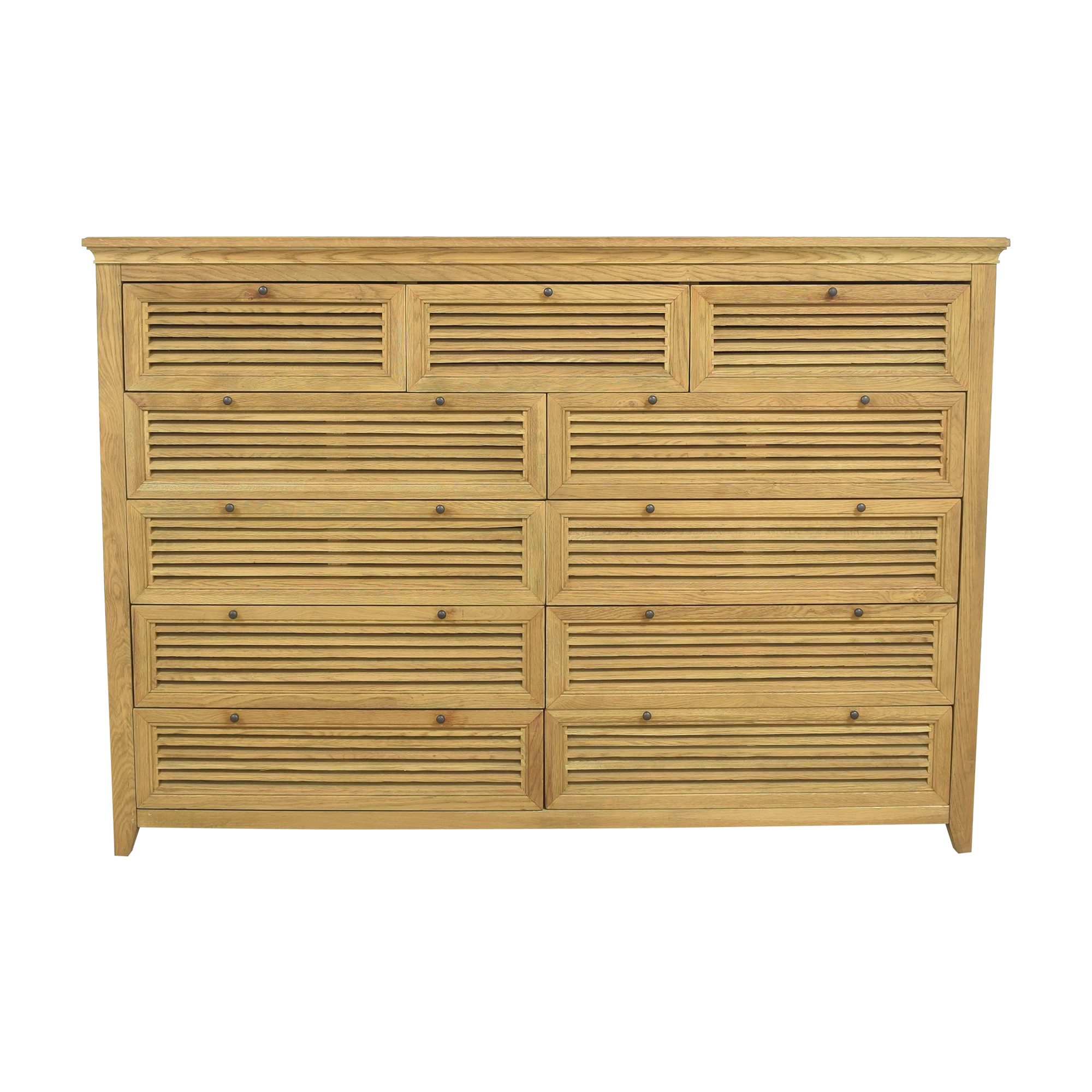 shop Restoration Hardware Shutter Eleven Drawer Dresser Restoration Hardware Dressers