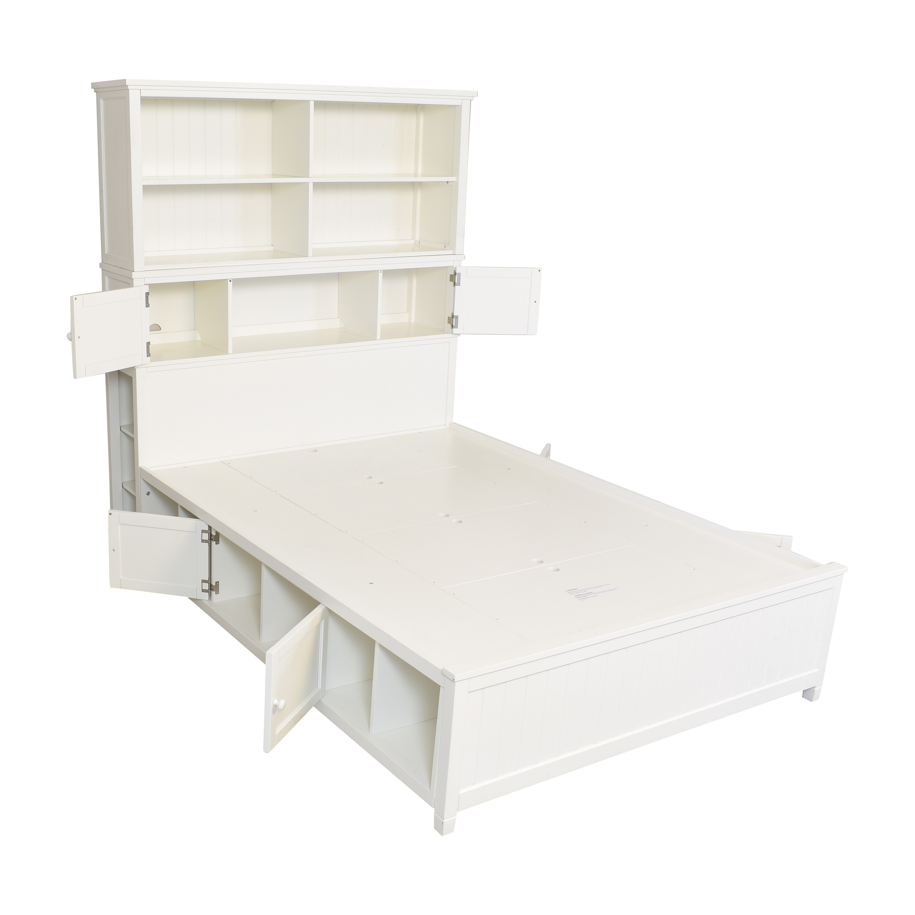 Pottery Barn Teen Pottery Barn Teen Beadboard Queen Storage Bed and Hutch on sale