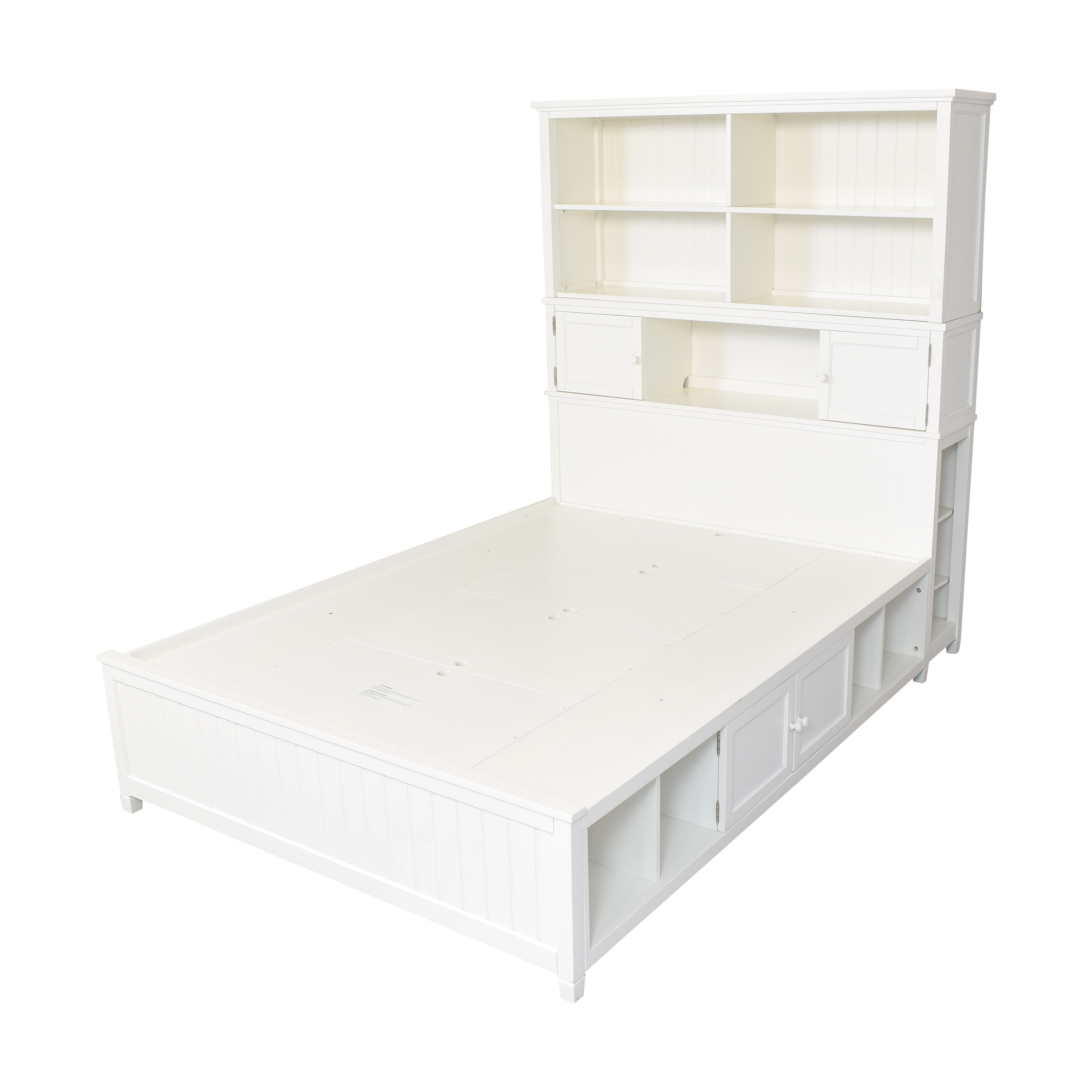 Pottery Barn Teen Pottery Barn Teen Beadboard Queen Storage Bed and Hutch discount