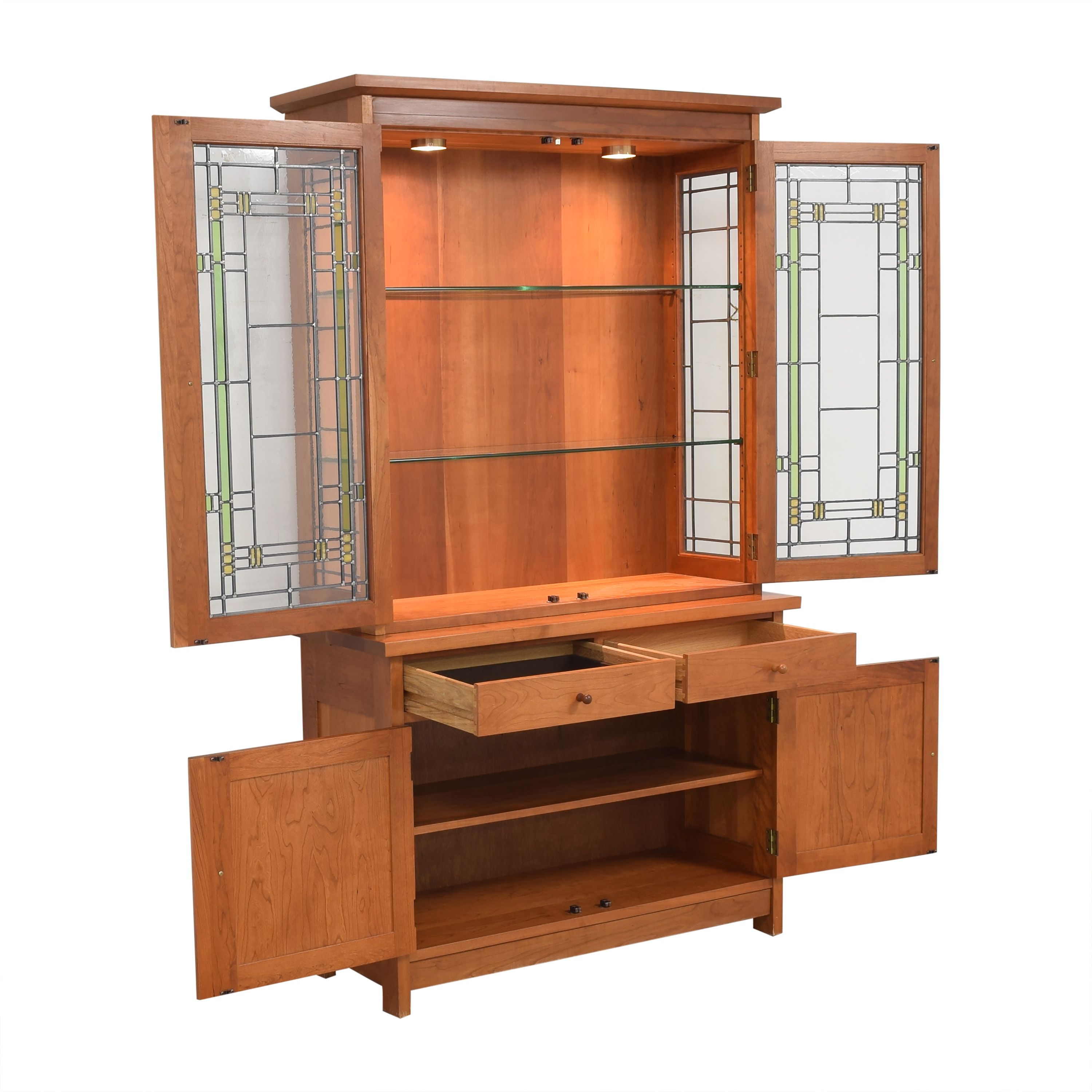Stickley Furniture Stickley Lighted China Cabinet nj