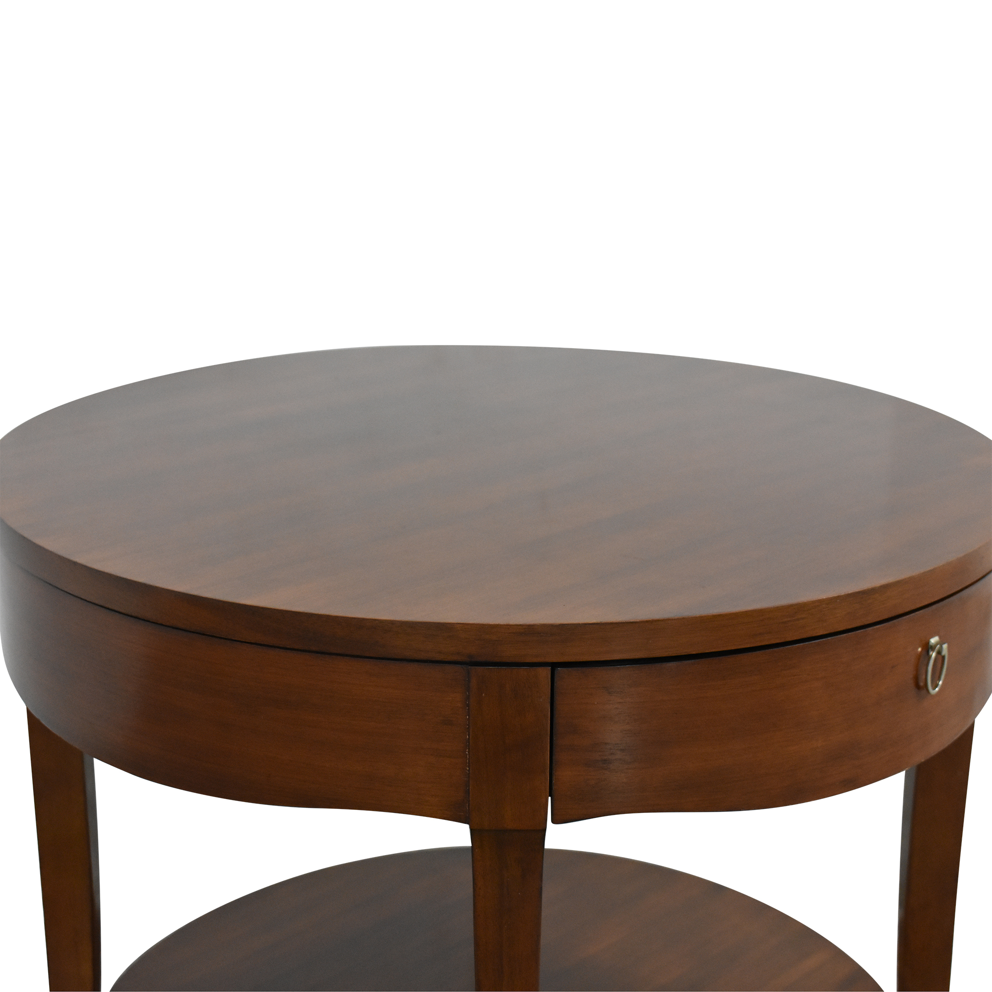 Henredon Furniture Henredon Furniture Round End Table with Drawer nj