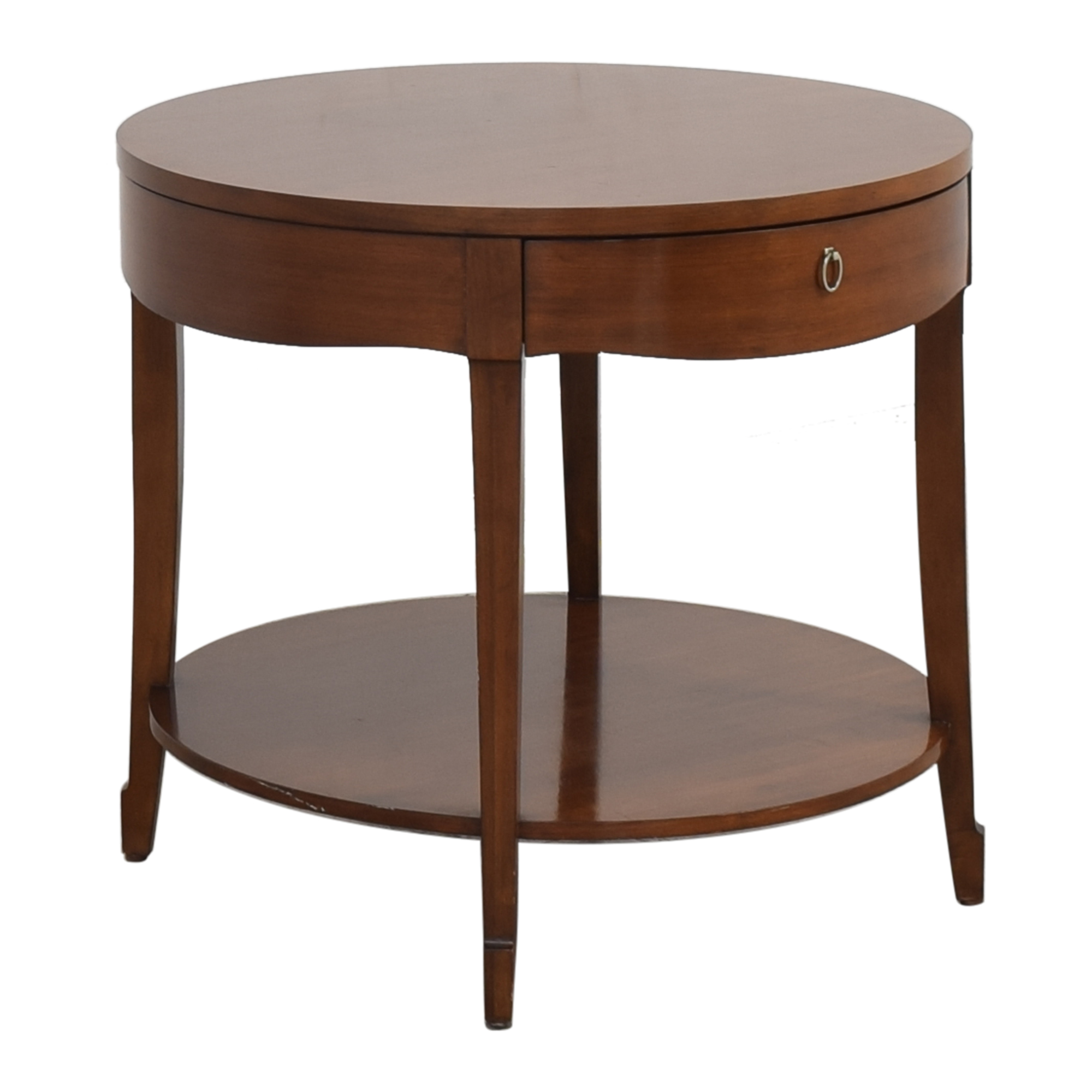 Henredon Furniture Round End Table with Drawer sale