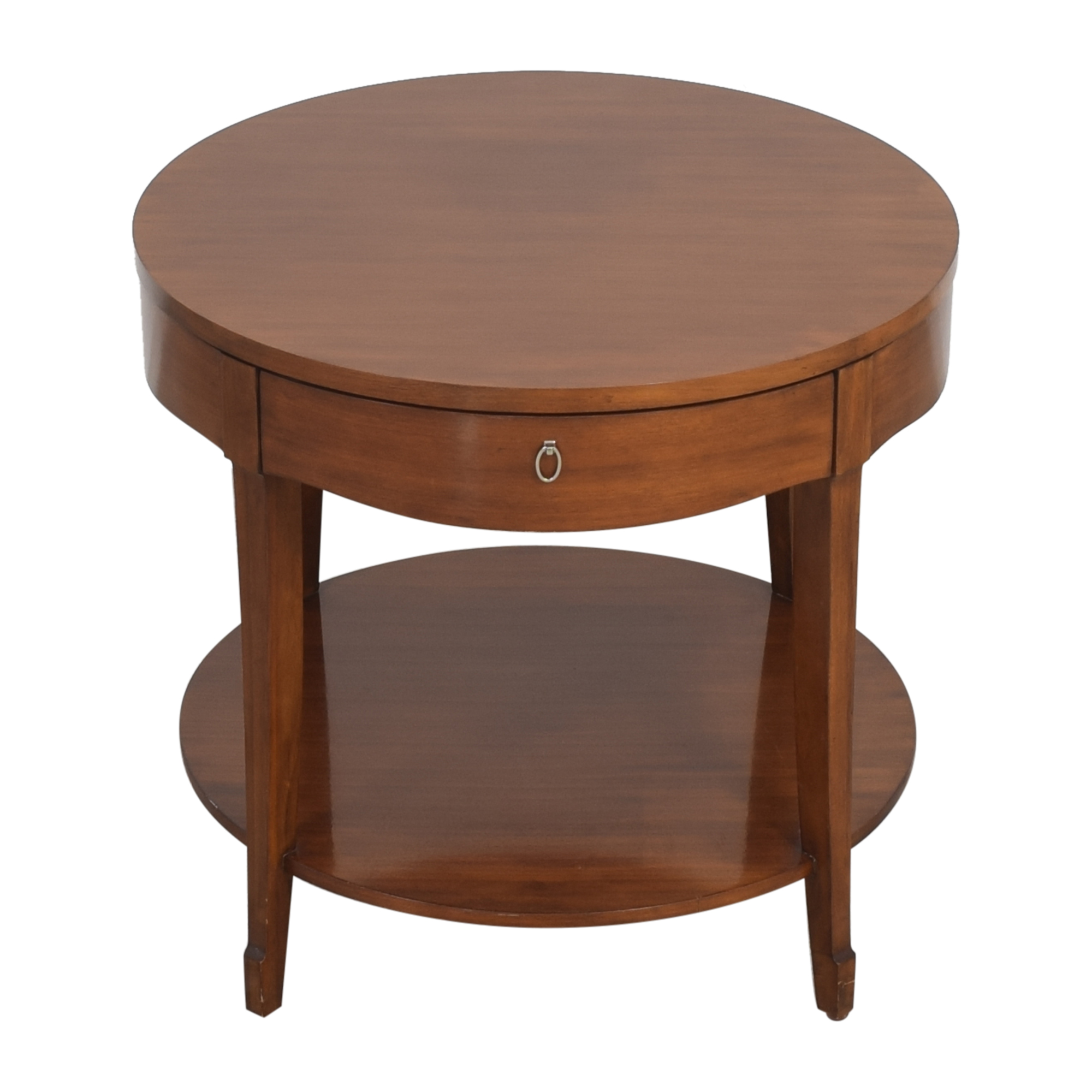 Henredon Furniture Henredon Furniture Round End Table with Drawer discount