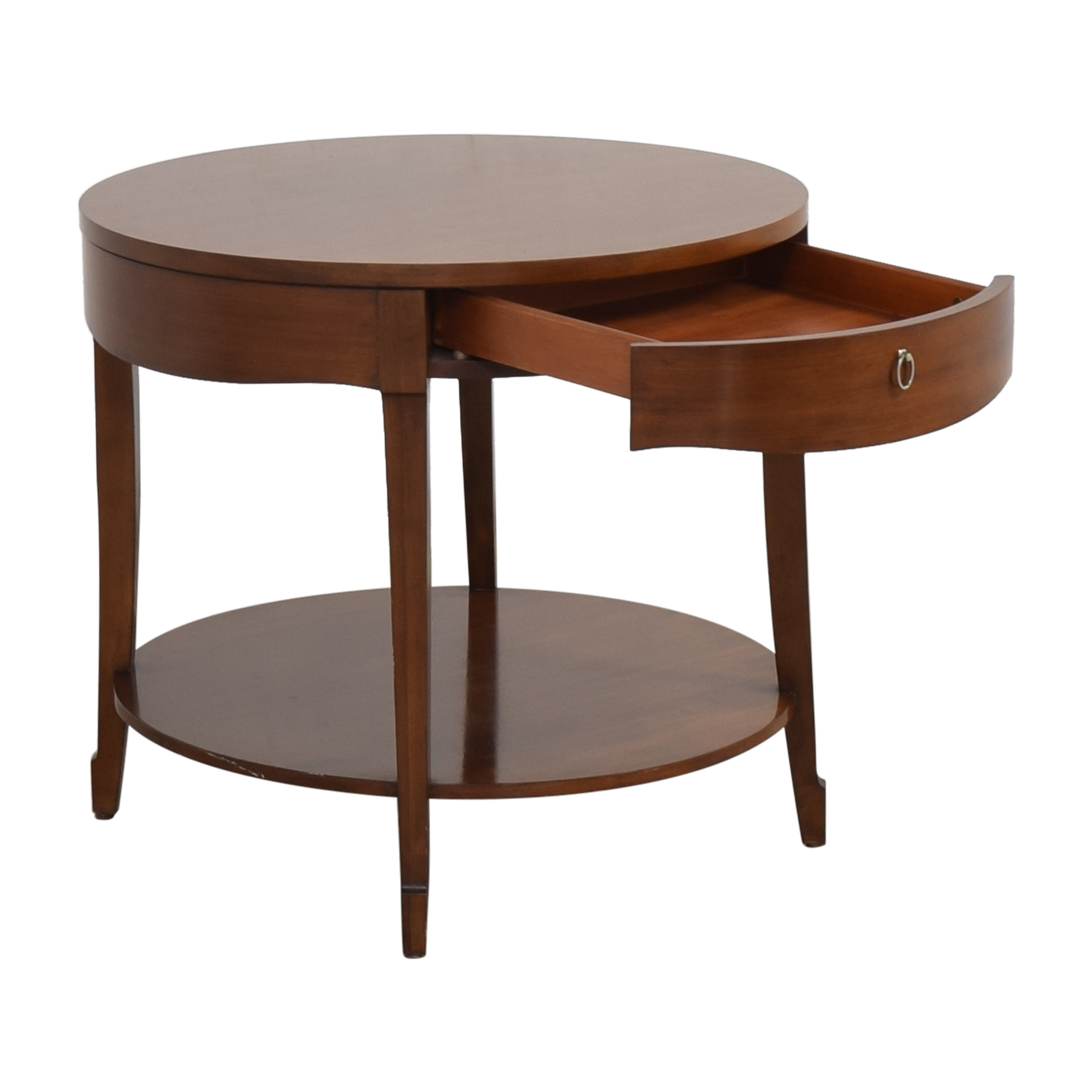 Henredon Furniture Henredon Furniture Round End Table with Drawer End Tables