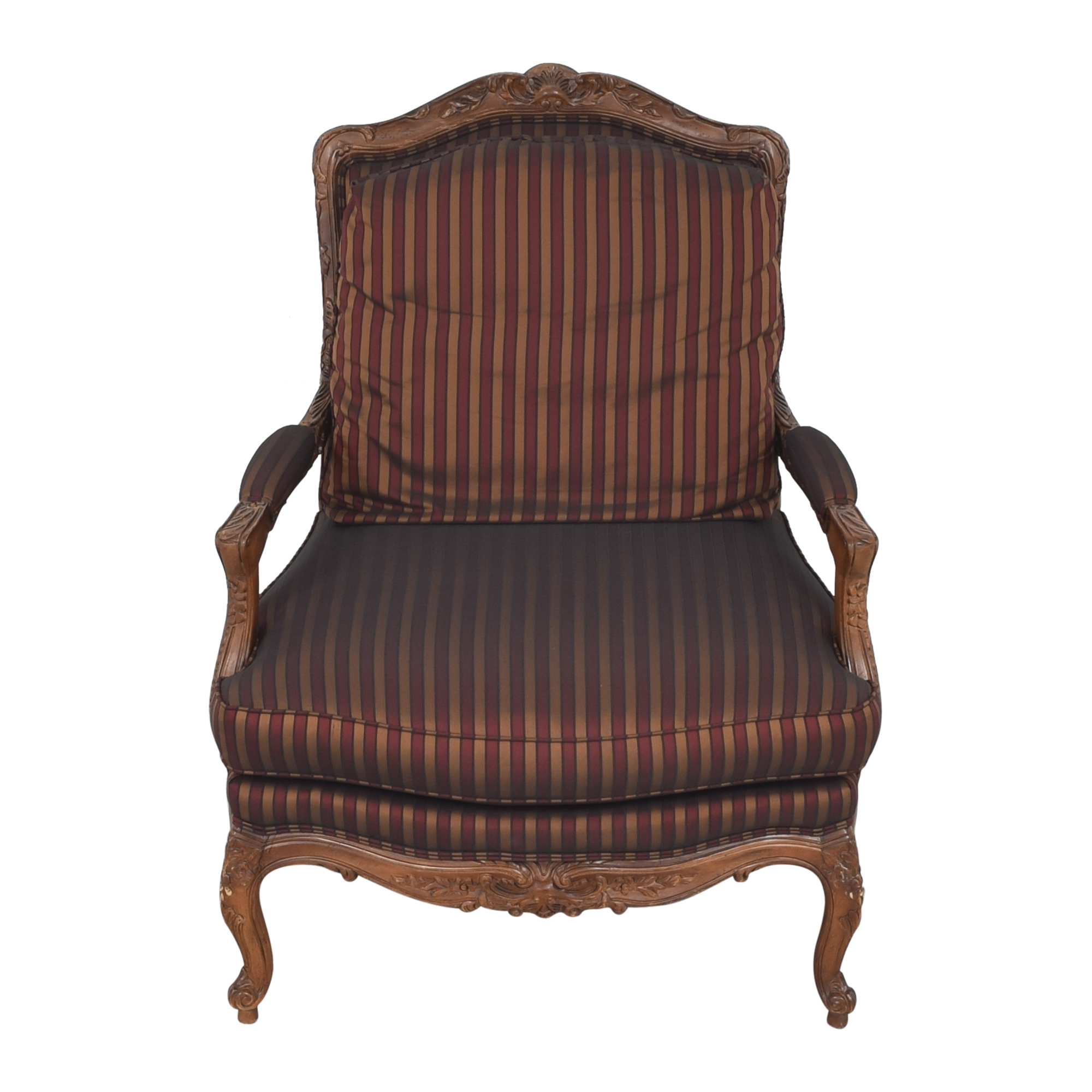 Sherrill Furniture Sherrill Furniture Bergere Style Chair brown & dark red
