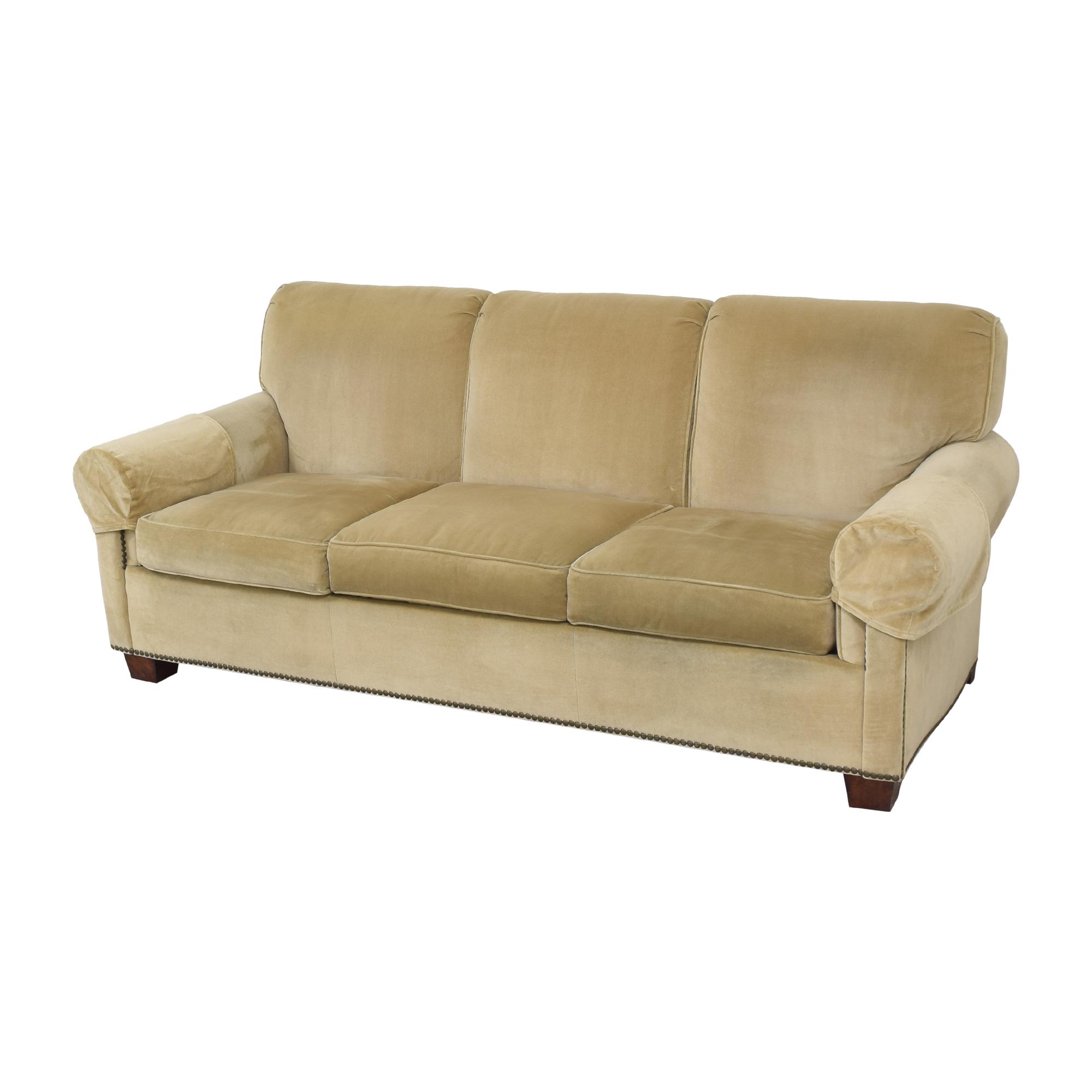 Hickory Chair Hickory Chair Sunbrella Three Cushion Sofa