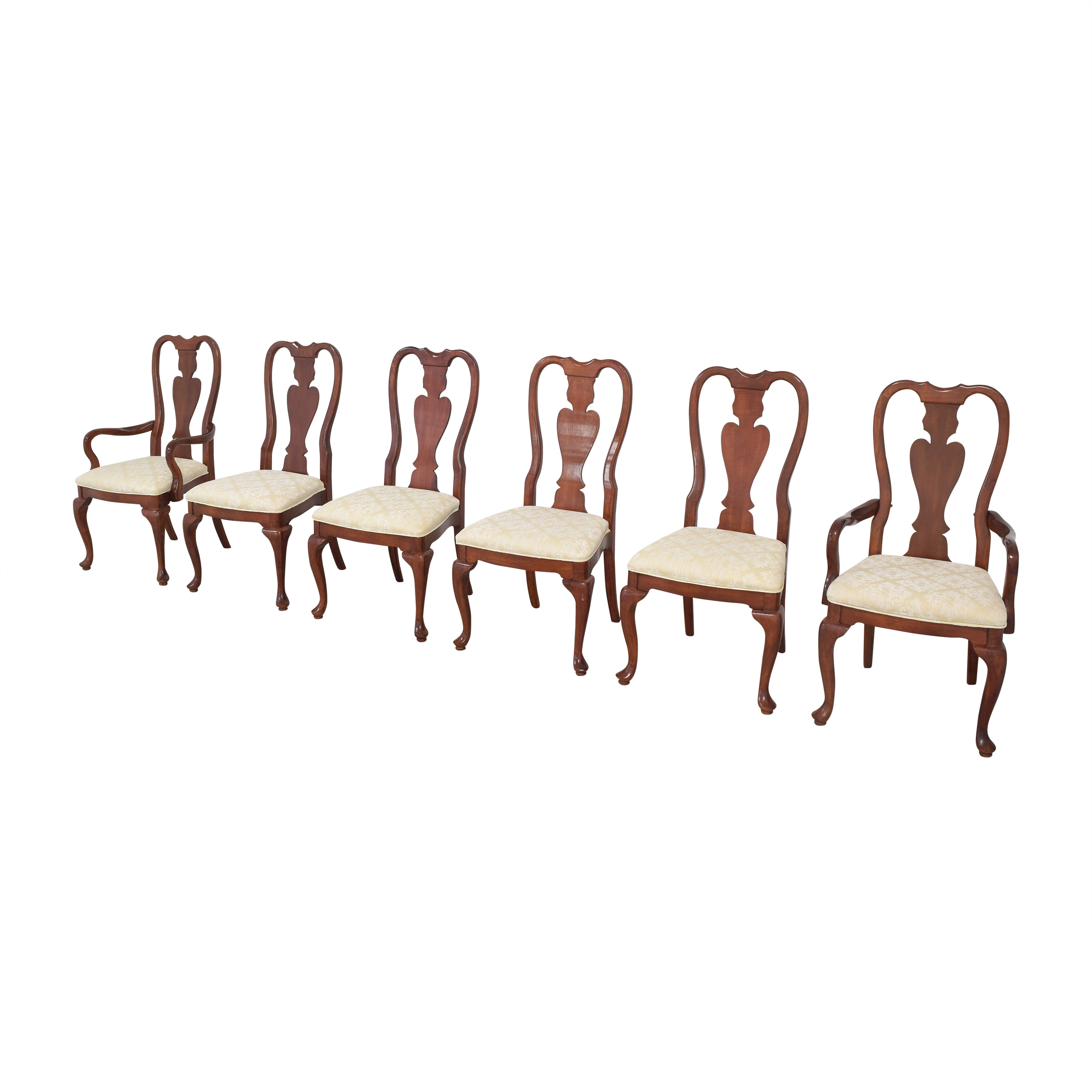 Universal Furniture Universal Furniture Queen Anne Dining Chairs second hand