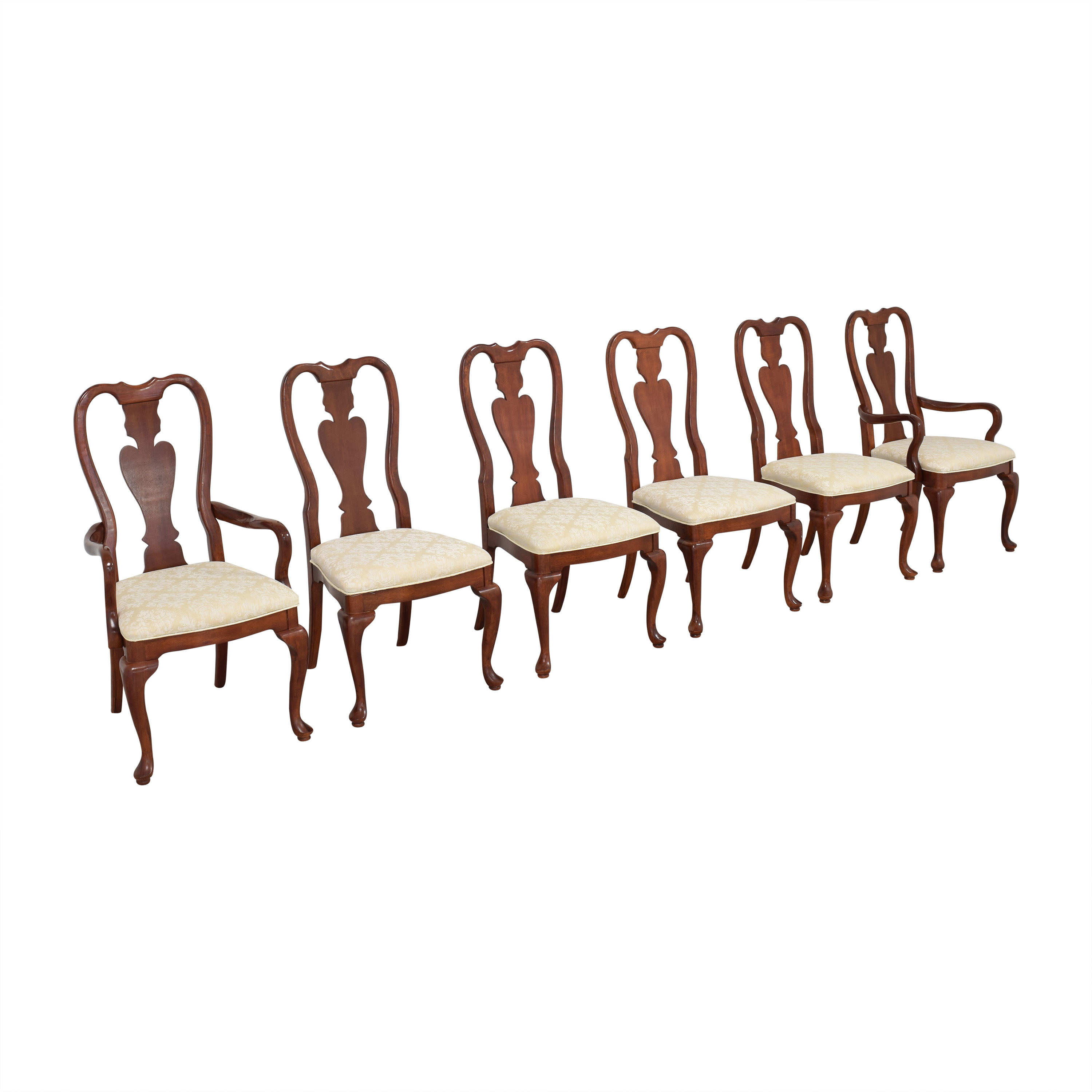 Universal Furniture Universal Furniture Queen Anne Dining Chairs brown & beige
