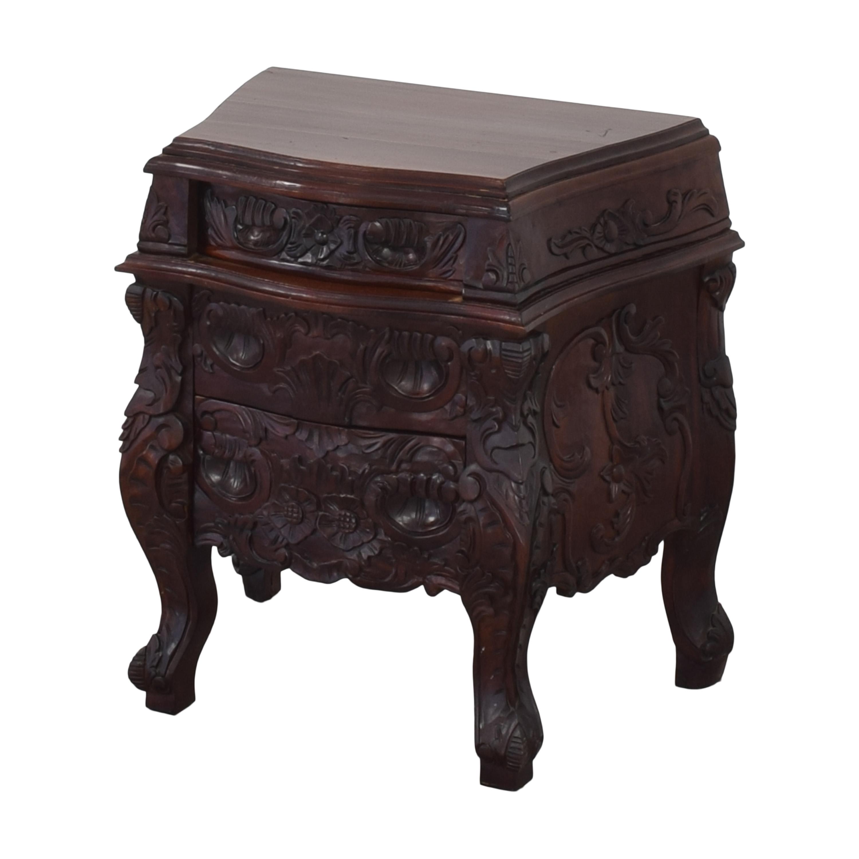 buy Vintage Carved Nightstand