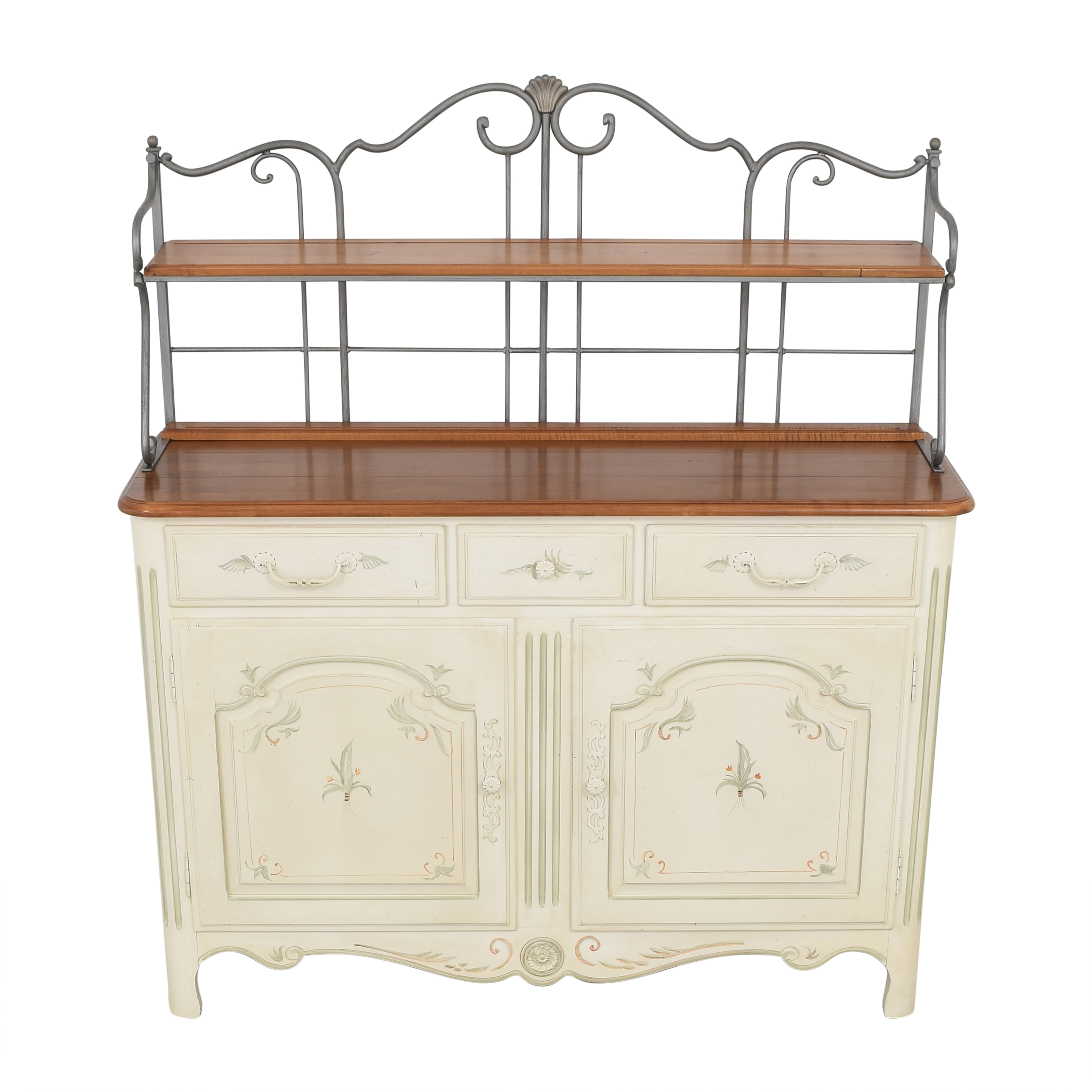 Ethan Allen Ethan Allen French Country Sideboard Baker's Rack used
