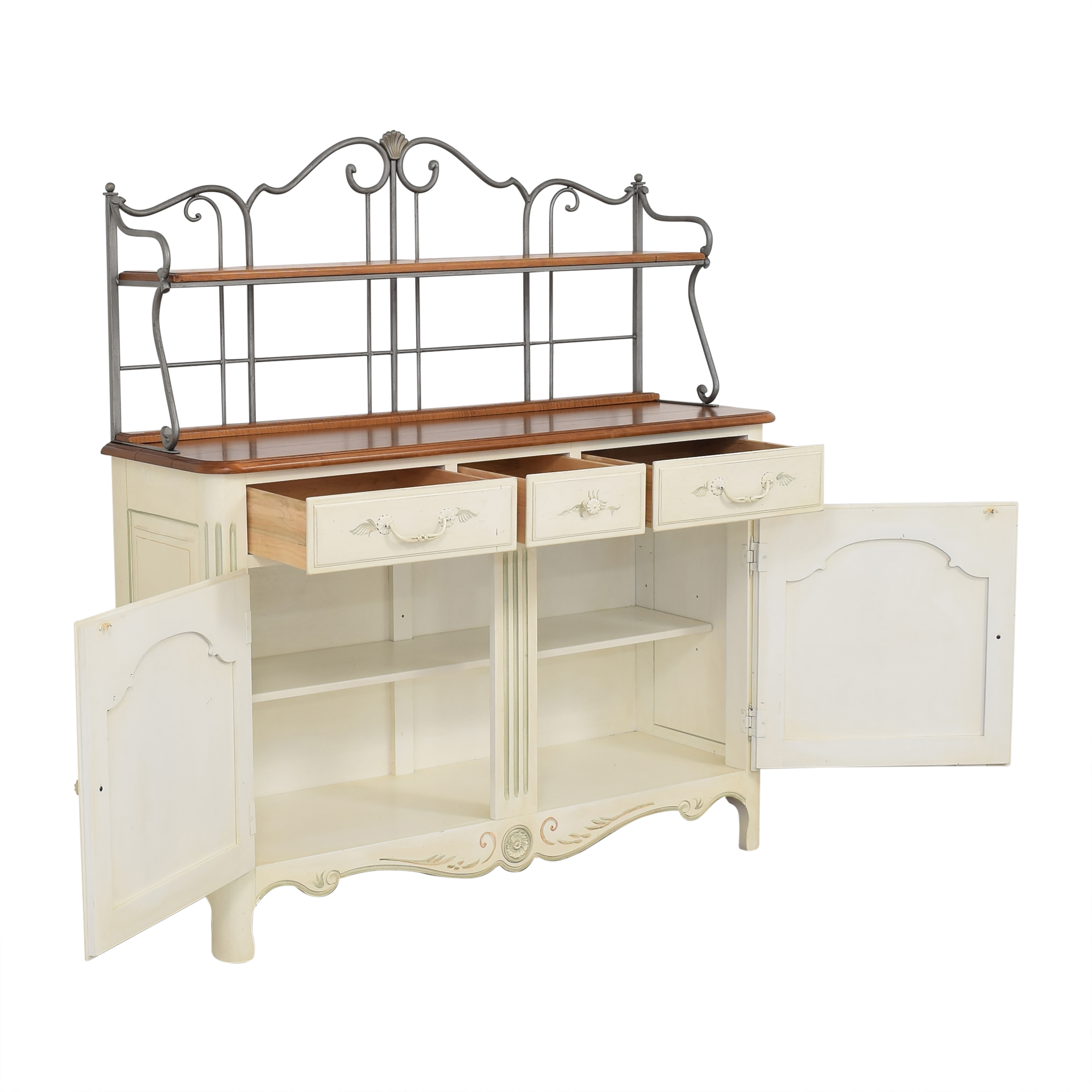 buy Ethan Allen French Country Sideboard Baker's Rack Ethan Allen Cabinets & Sideboards