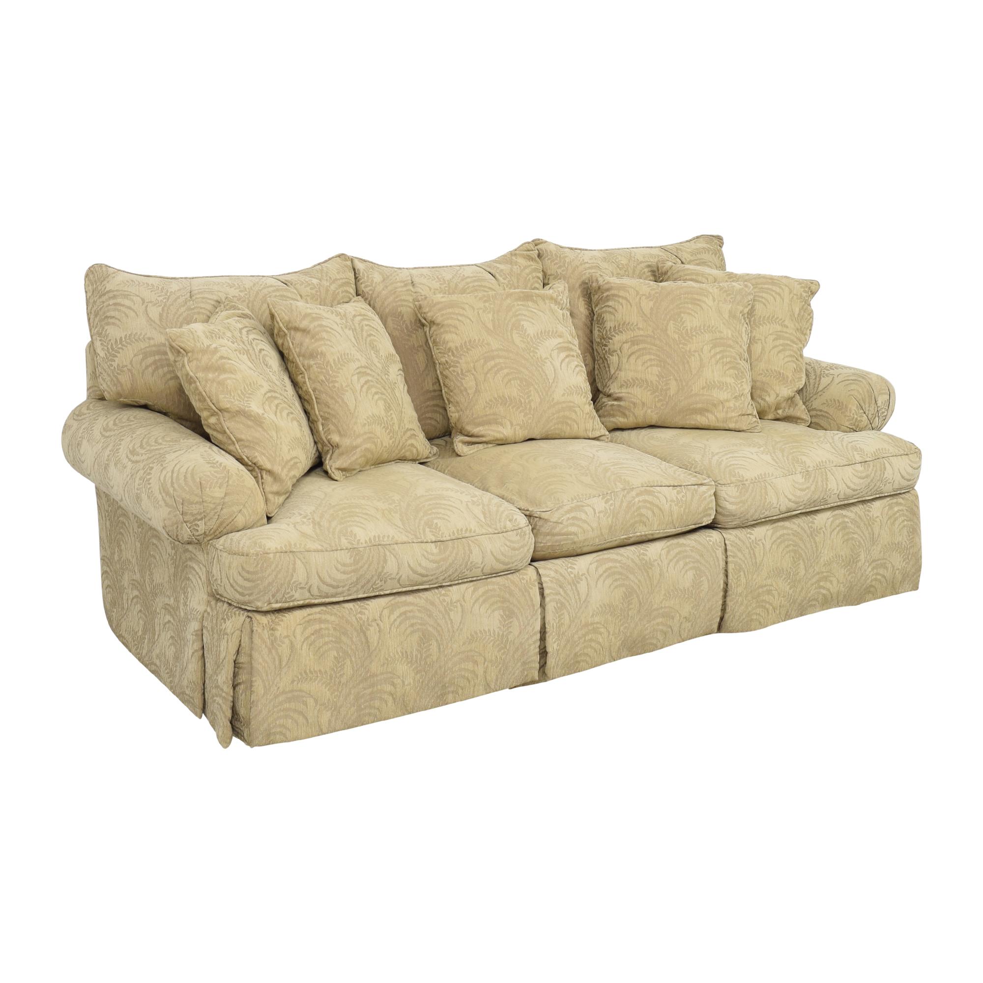 Bernhardt Bernhardt Roll Arm Three Cushion Sofa nj