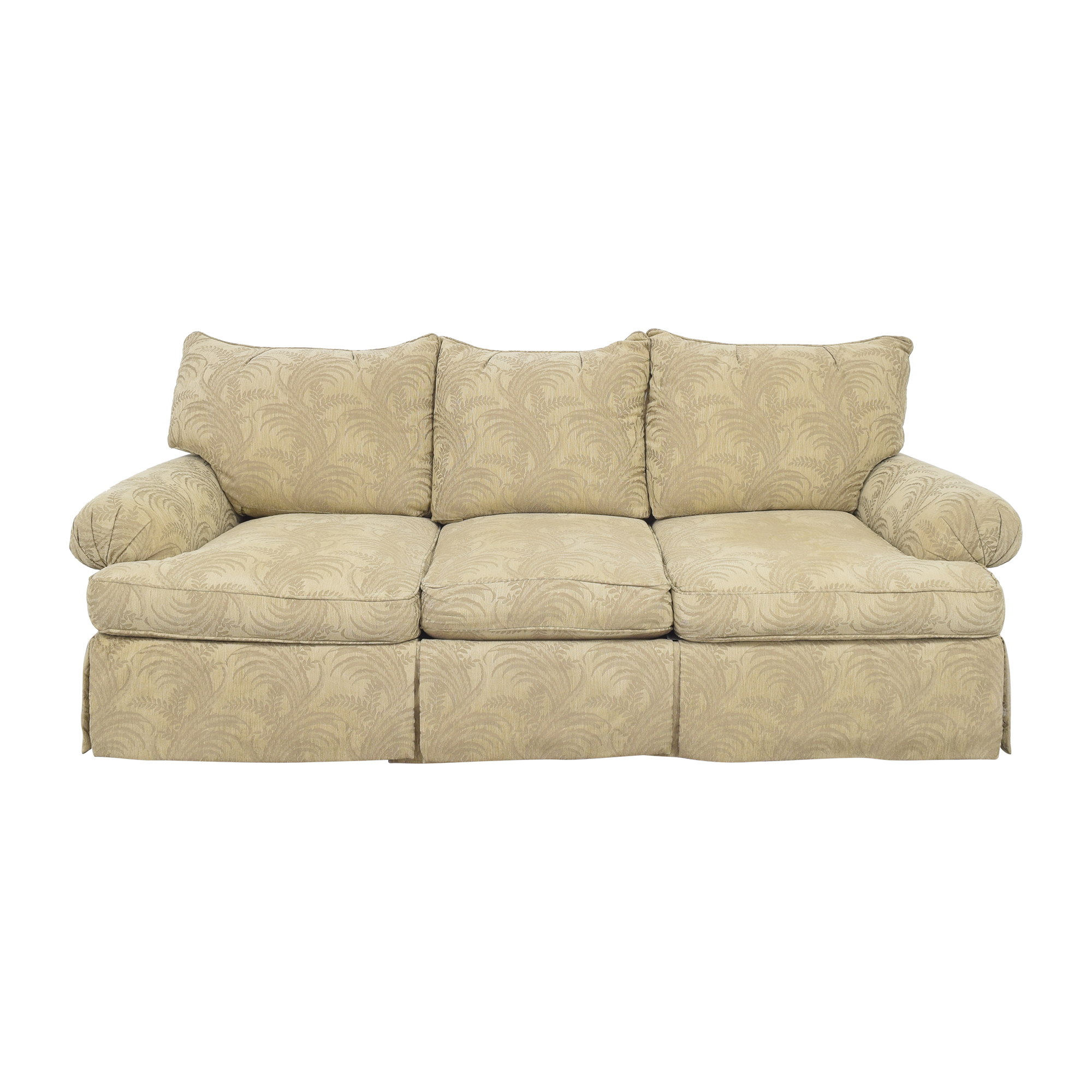 shop Bernhardt Roll Arm Three Cushion Sofa Bernhardt