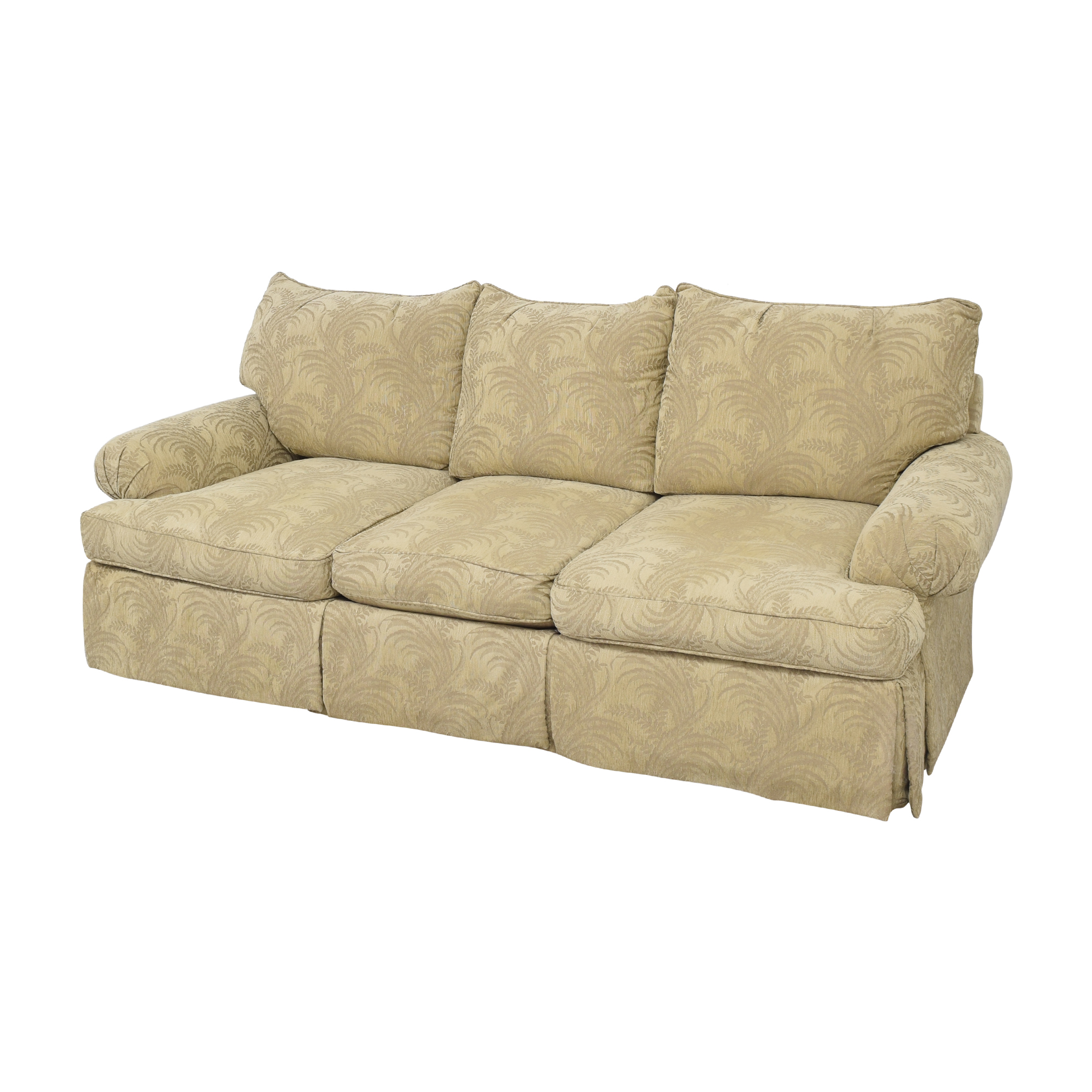 shop Bernhardt Roll Arm Three Cushion Sofa Bernhardt Classic Sofas