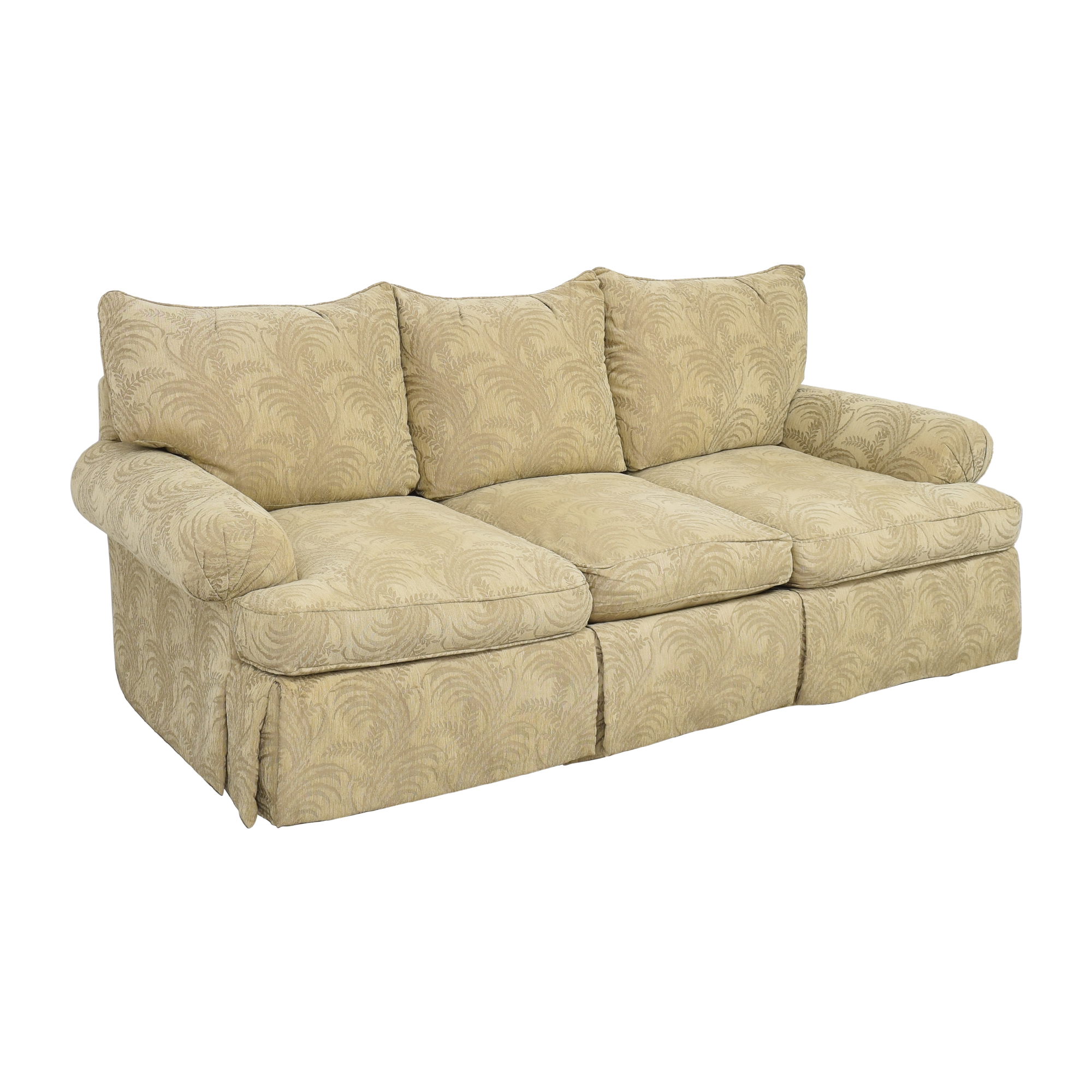 shop Bernhardt Bernhardt Roll Arm Three Cushion Sofa online