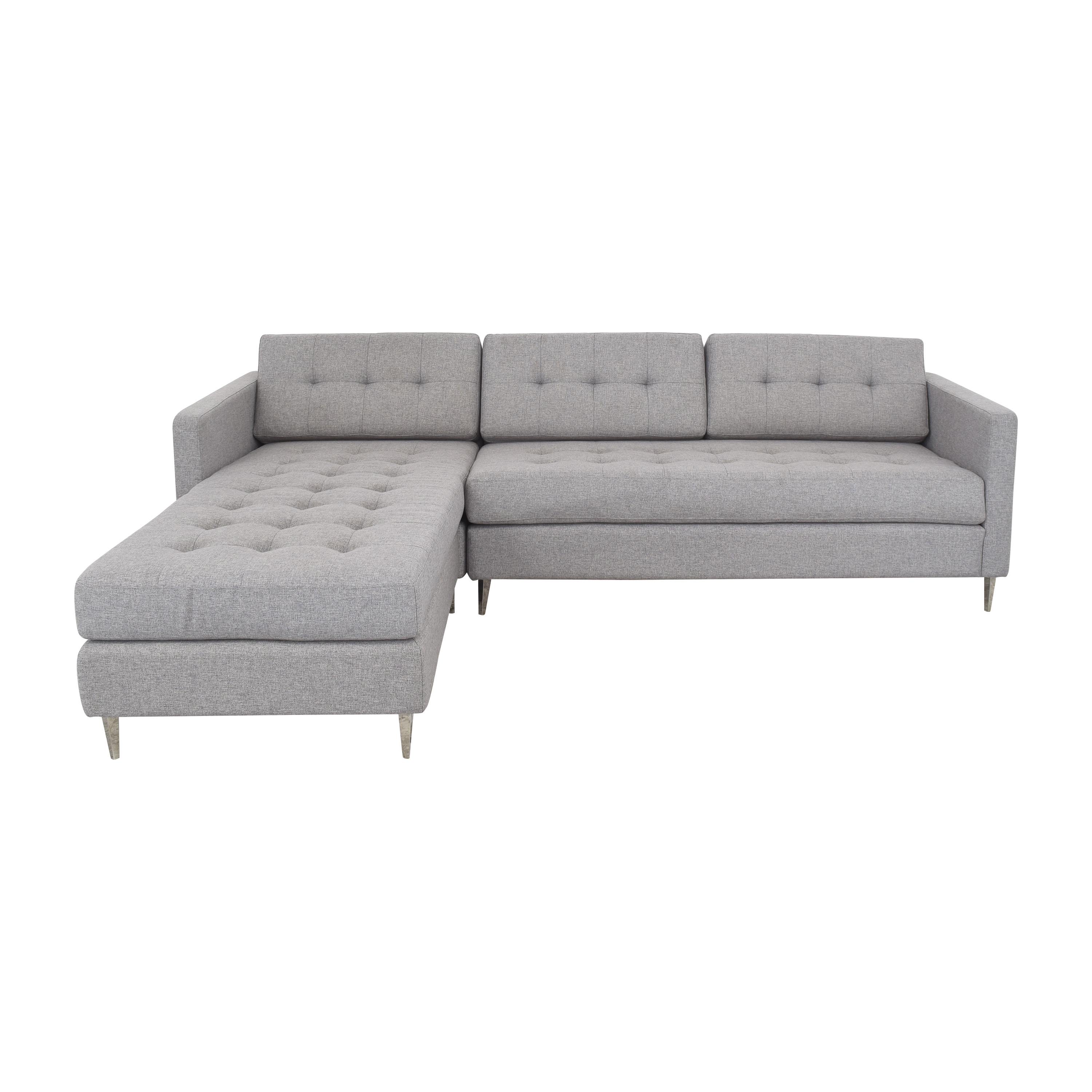 CB2 CB2 Ditto II Tufted Sectional Sofa Sofas