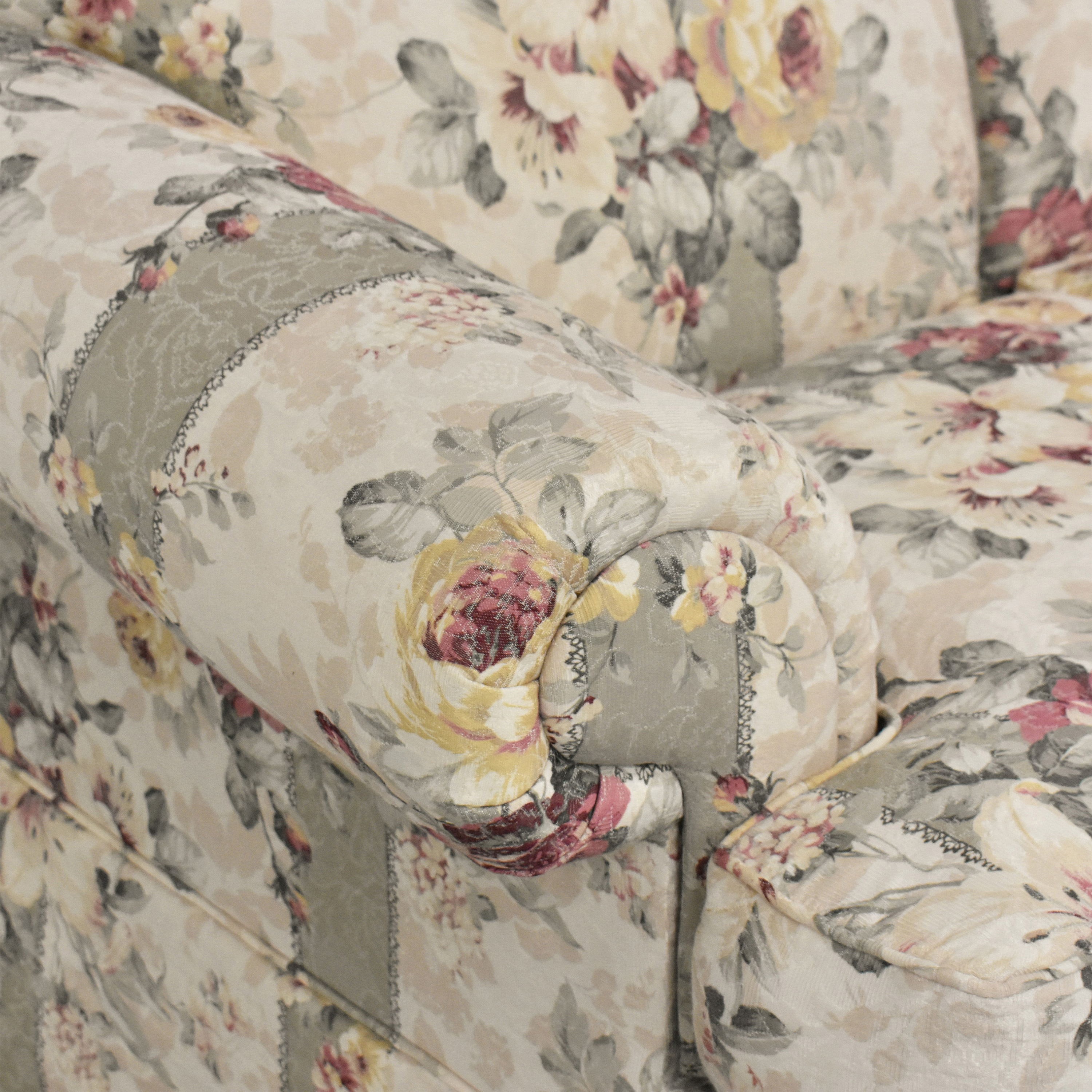 buy Rowe Furniture Floral Skirted Sofa Rowe Furniture Classic Sofas