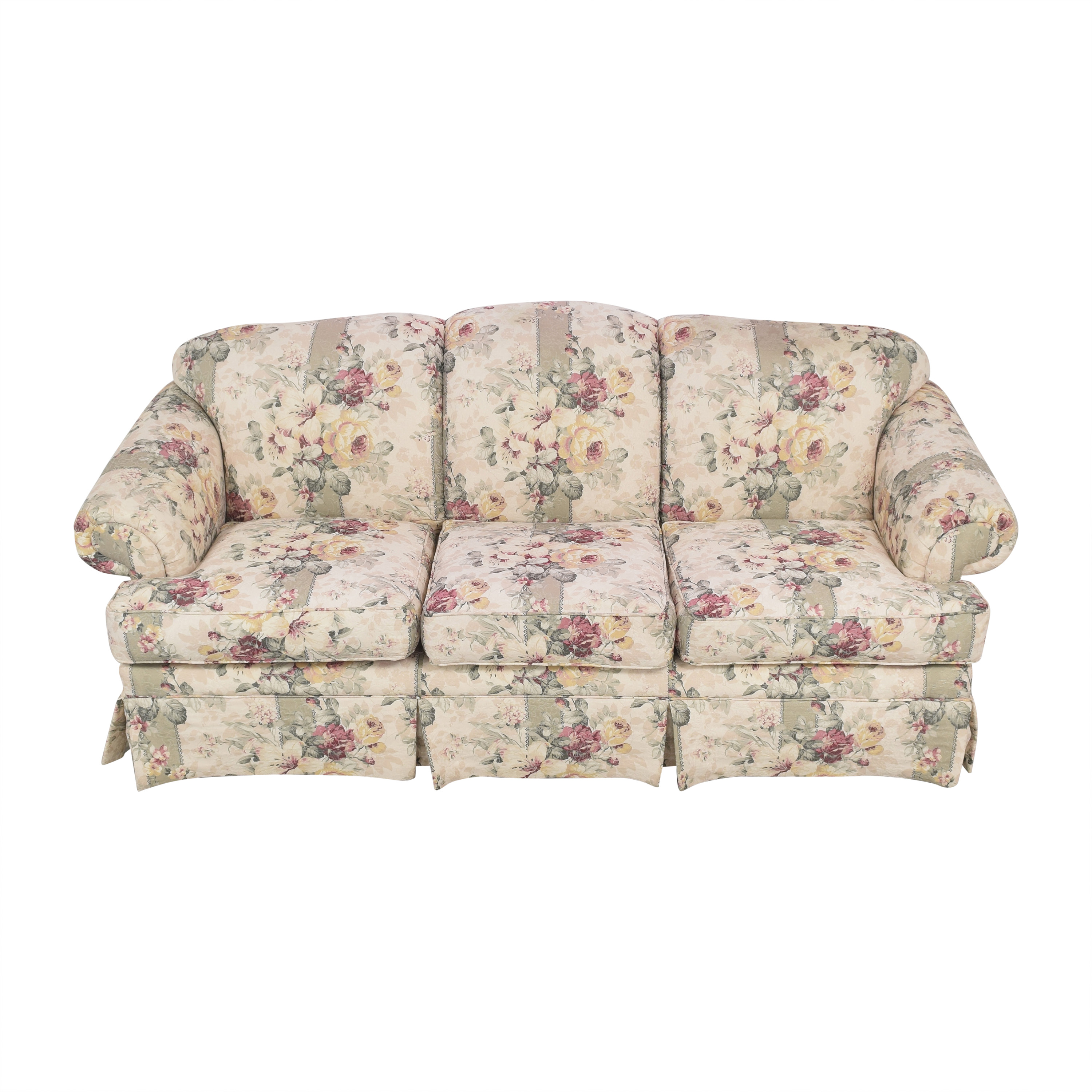 Rowe Furniture Rowe Furniture Floral Skirted Sofa nj