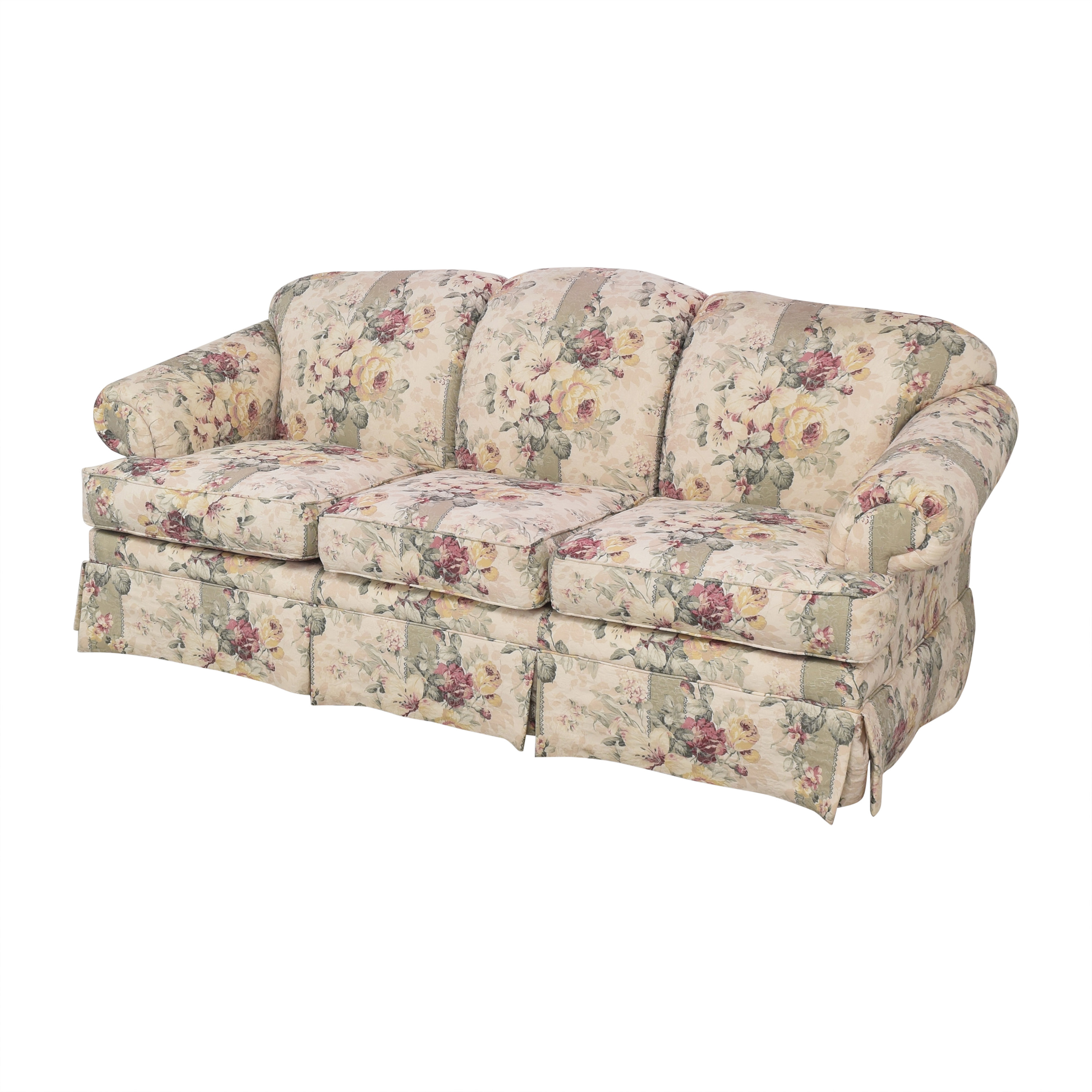 Rowe Furniture Floral Skirted Sofa Rowe Furniture