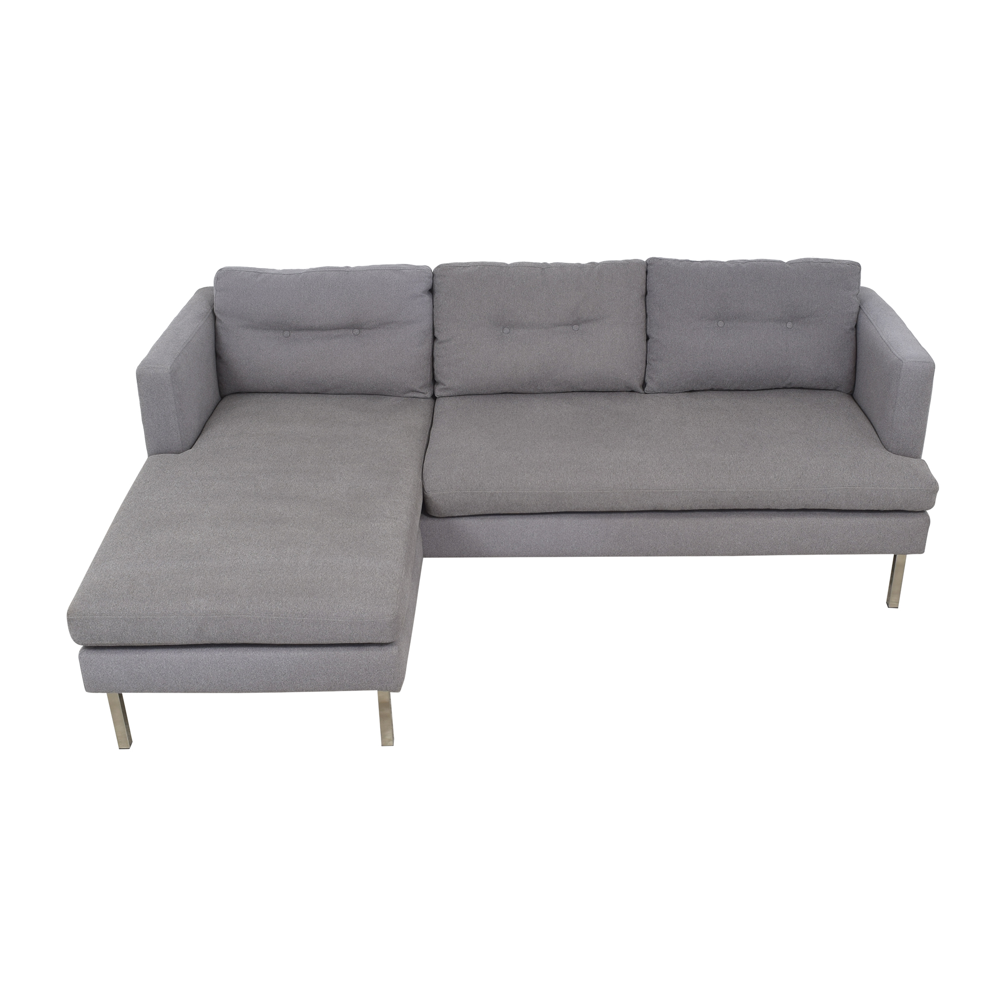 West Elm West Elm Modern Sectional Sofa with Chaise dimensions