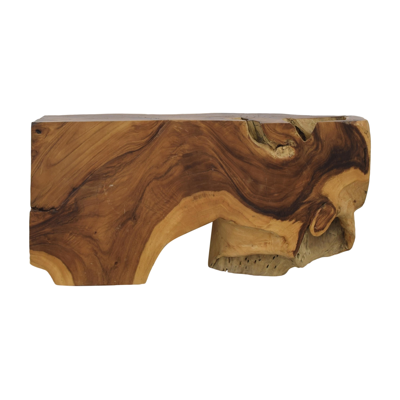 Urban Hardwoods Urban Hardwoods Block Accent Table for sale