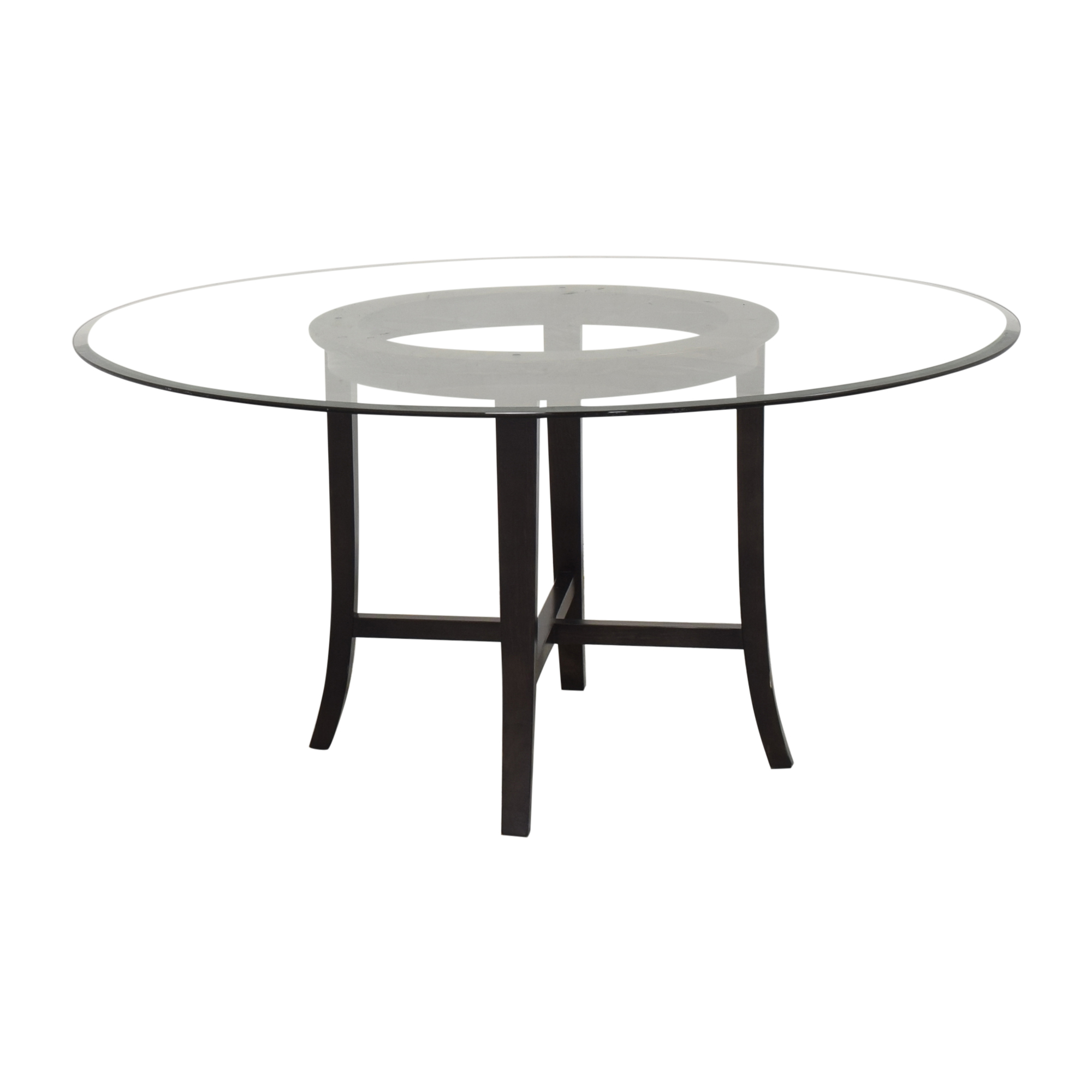shop Crate & Barrel Halo Dining Table with Transparent Surface Crate & Barrel